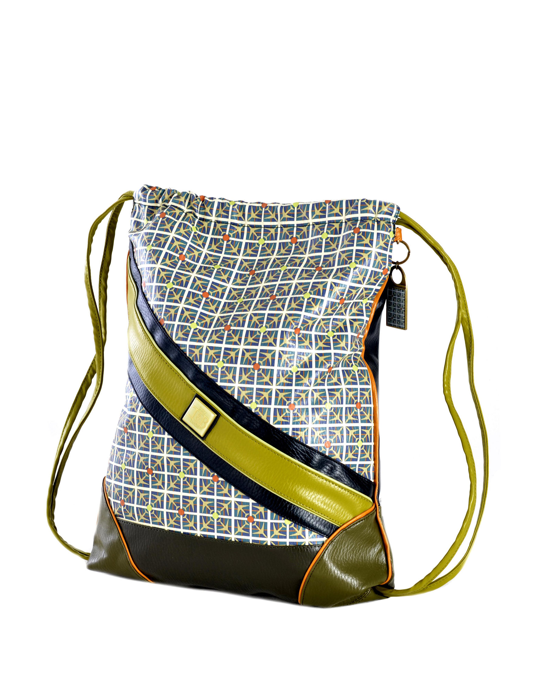 Inky & Bozko Orange/ Blue/ Green Bookbags & Backpacks Fanny Packs & Drawstring Bags Weekend Bags
