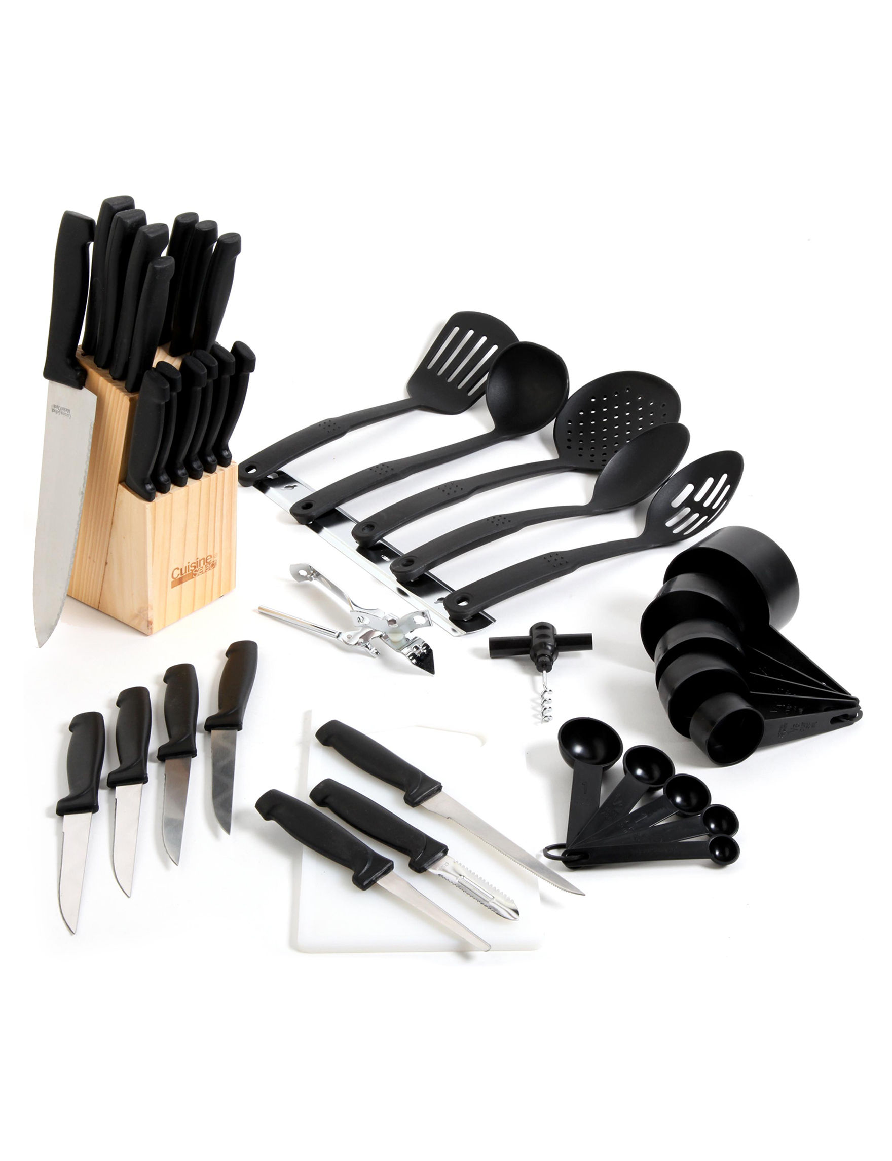 Gibson Black Kitchen Utensils Knives & Cutlery Prep & Tools