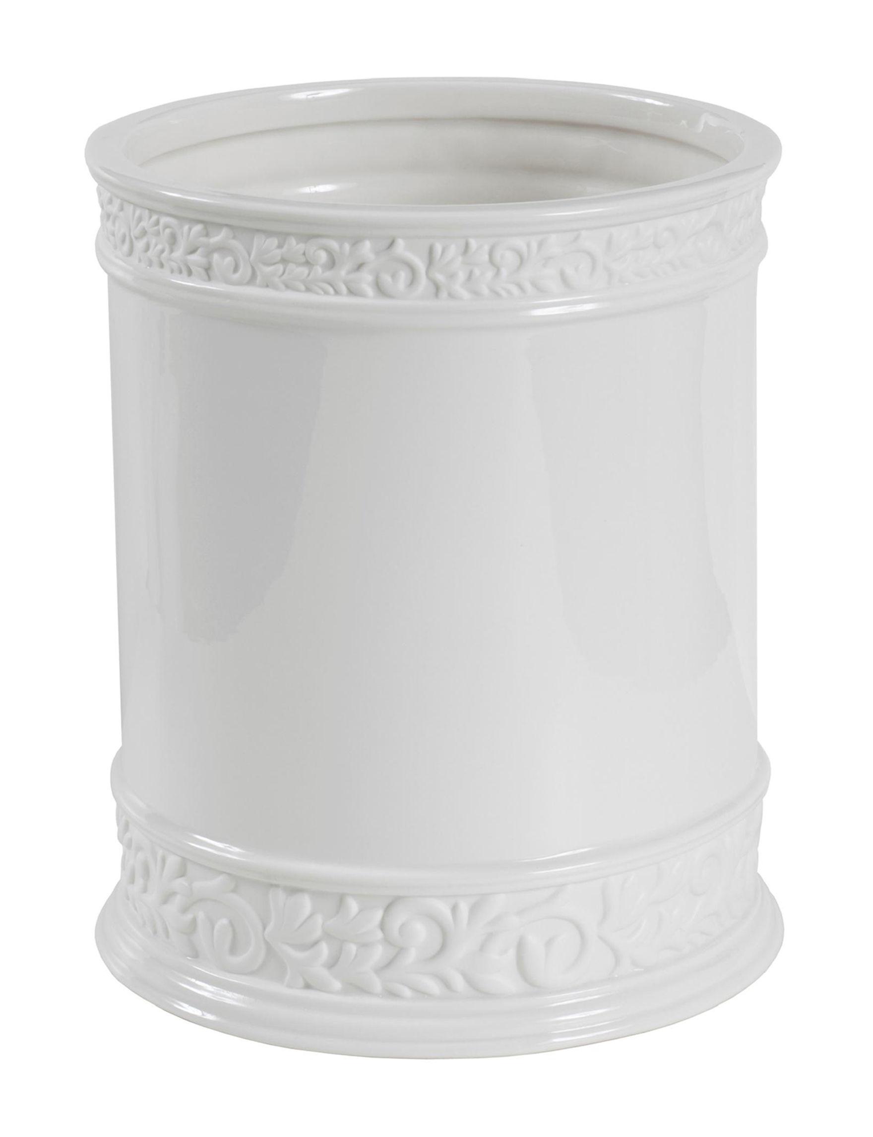 Creativeware White Wastebaskets Bath Accessories