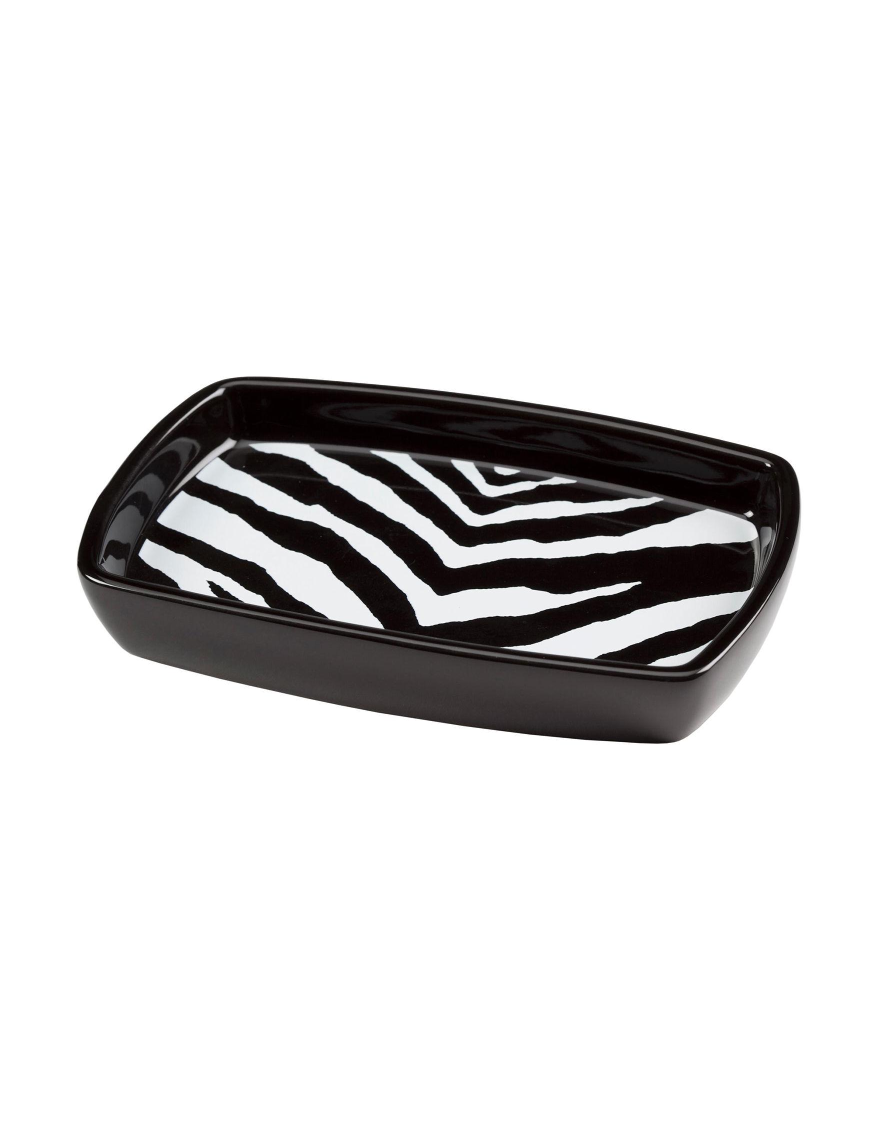 Creativeware Black / White Soap Dishes Bath Accessories