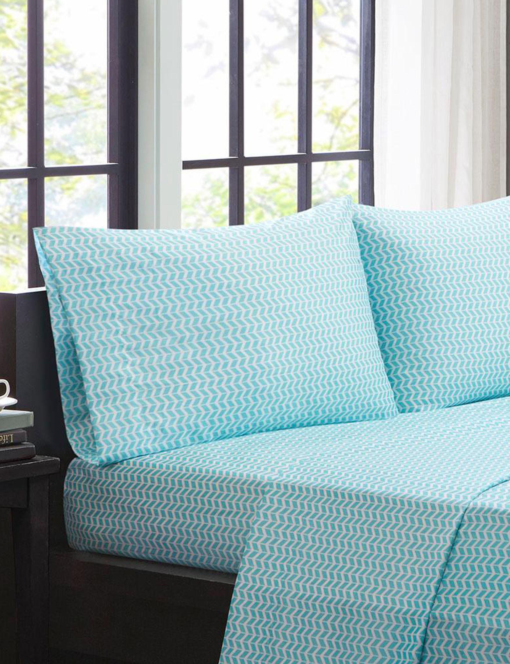 Intelligent Design Aqua Sheets & Pillowcases