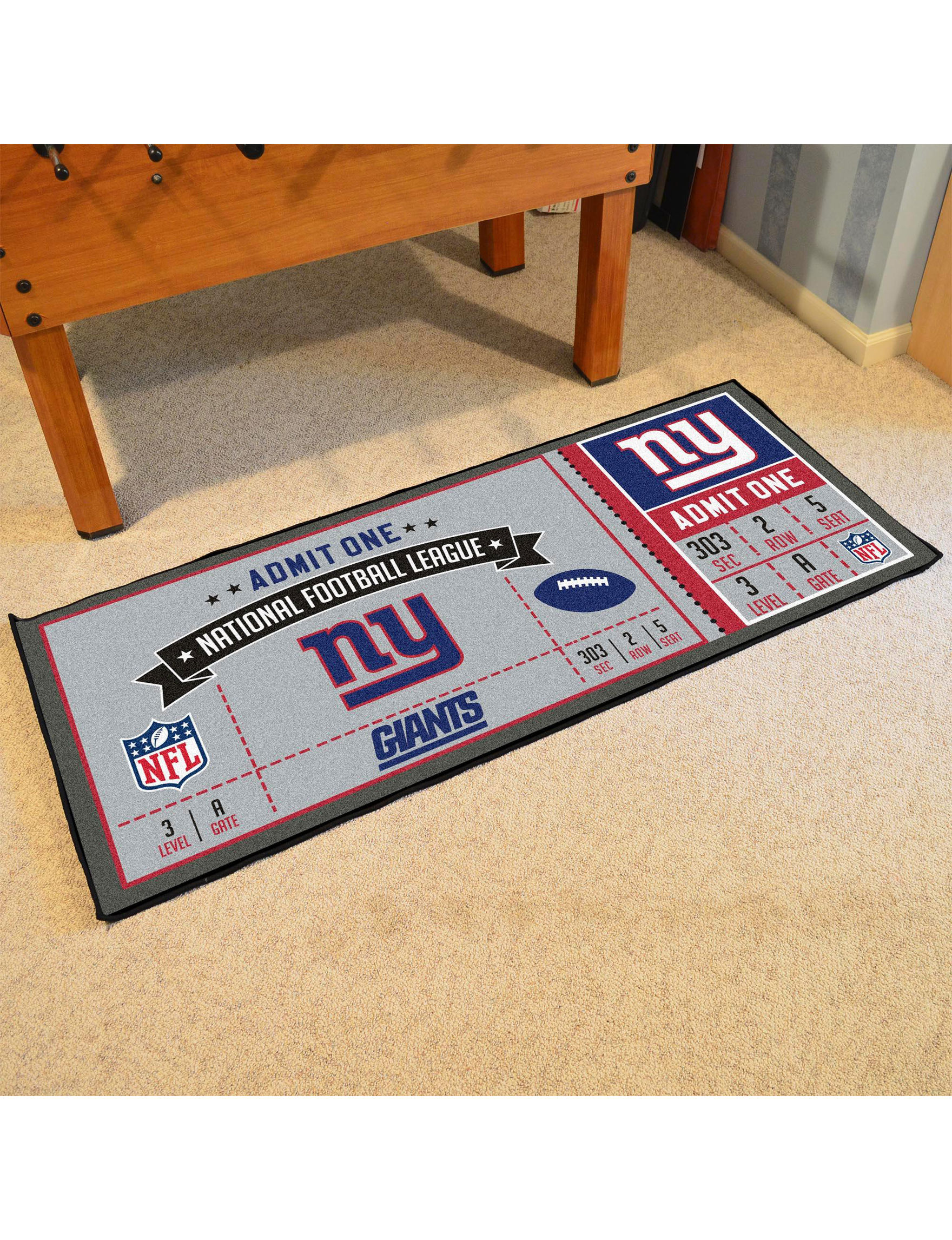 Fanmats Blue / White Runners Rugs