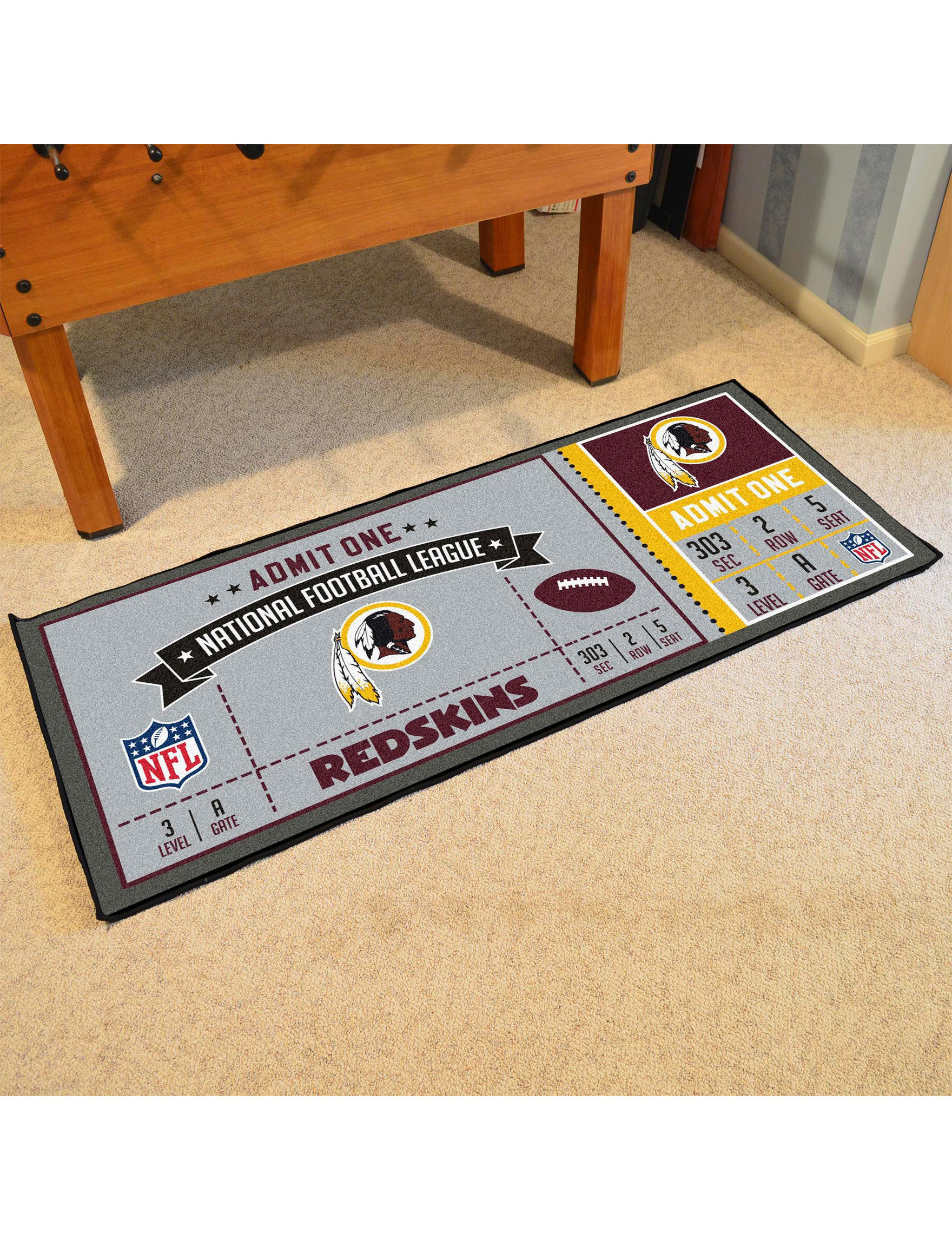 Fanmats Red / Gold Runners Rugs