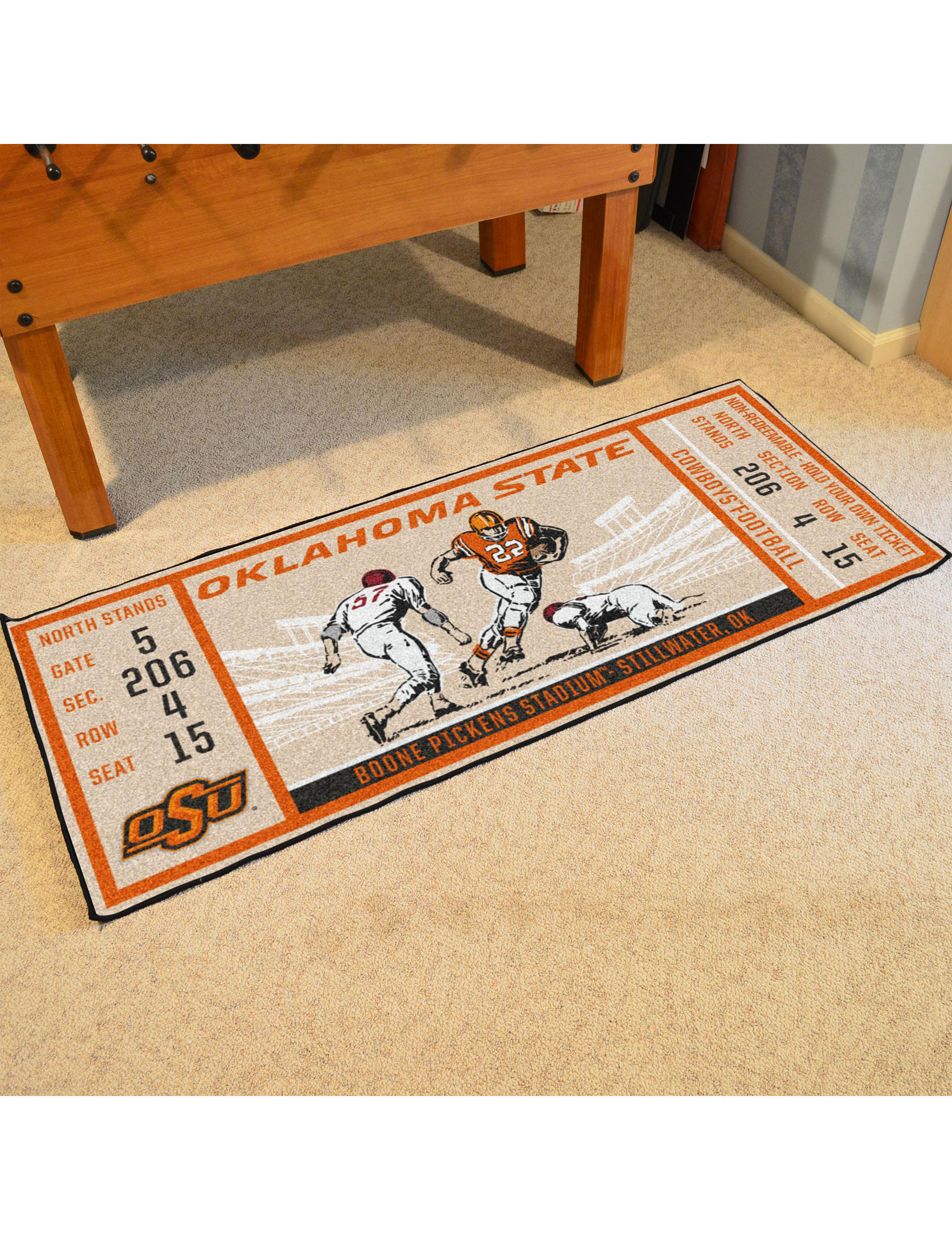 Fanmats Orange / Brown Runners Rugs
