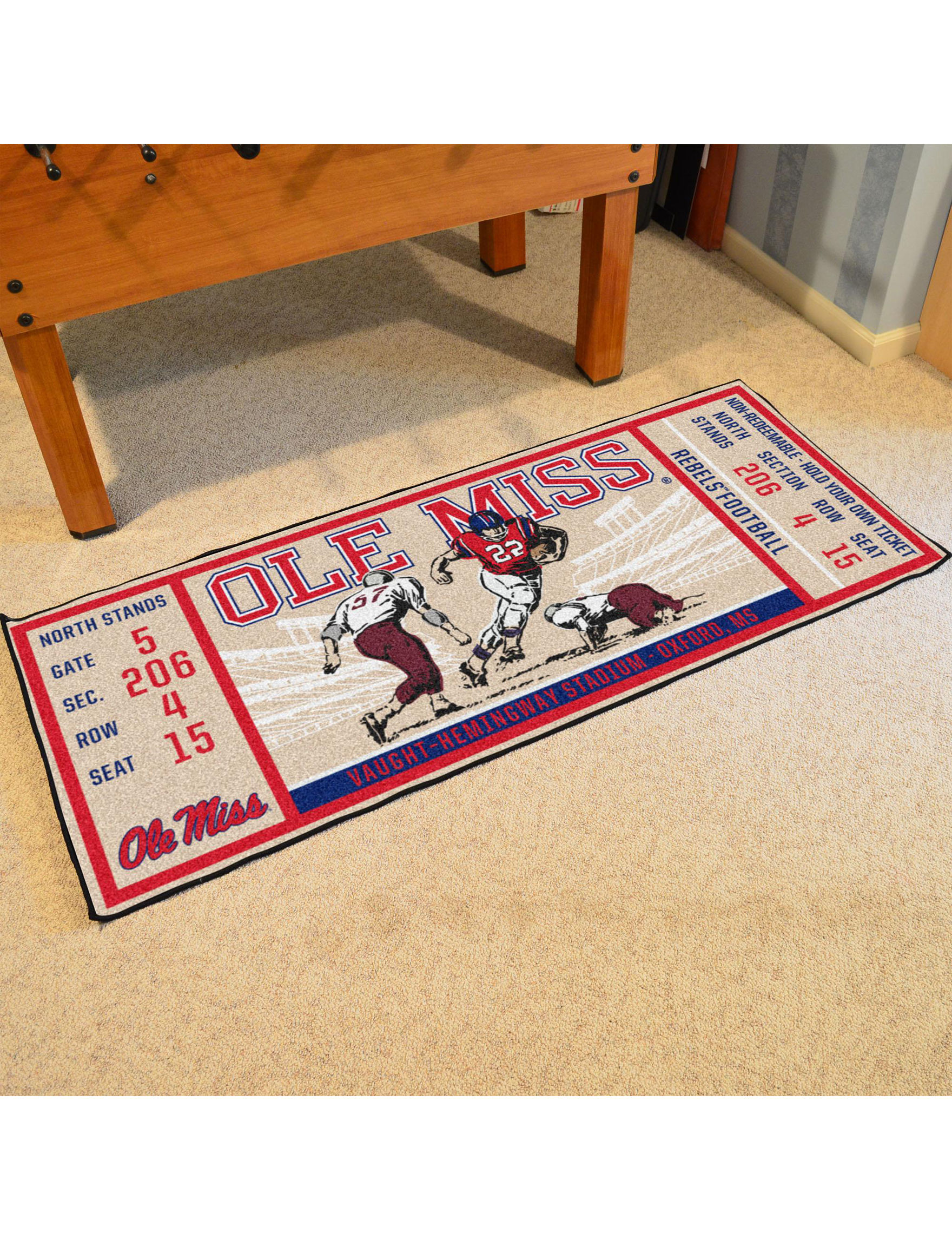 Fanmats Red / Blue Runners Rugs