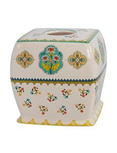Creativeware White Tissue Box Covers Bath Accessories