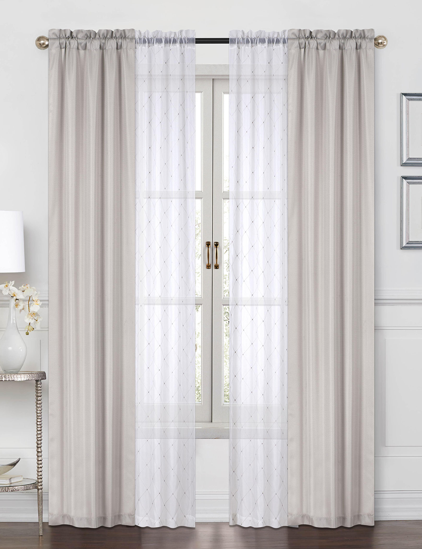 Casa Beige Curtains & Drapes Window Treatments