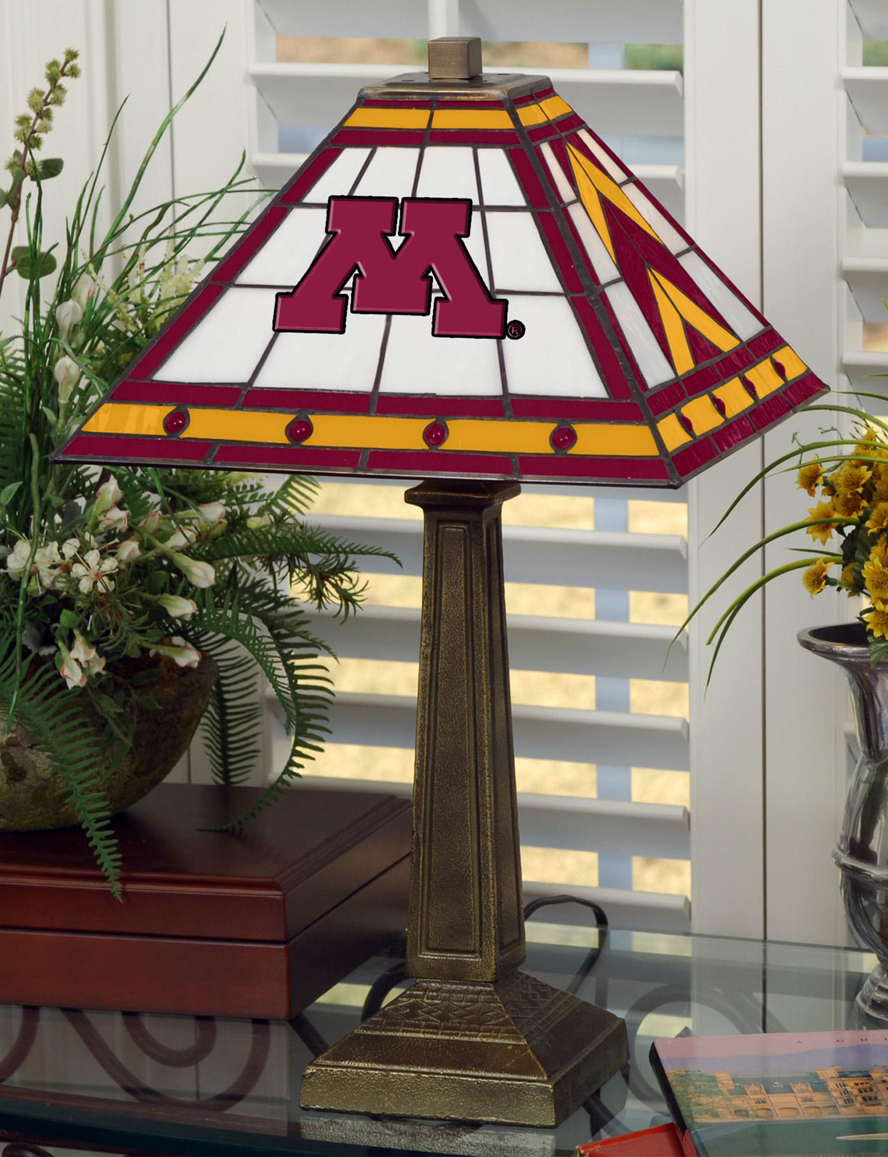 The Memory Company Maroon Table Lamps Lighting & Lamps