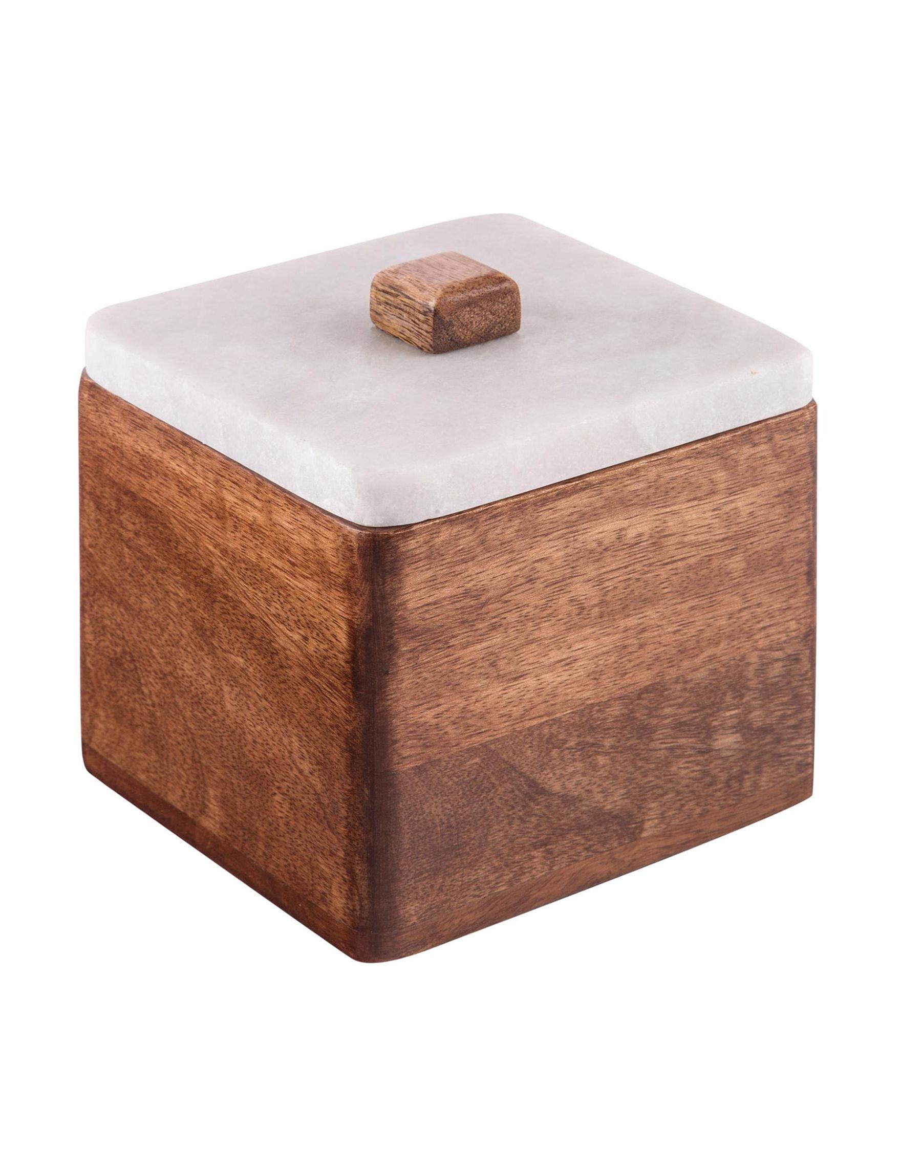 Home Essentials Brown / White Decorative Objects Jewelry Storage & Organization