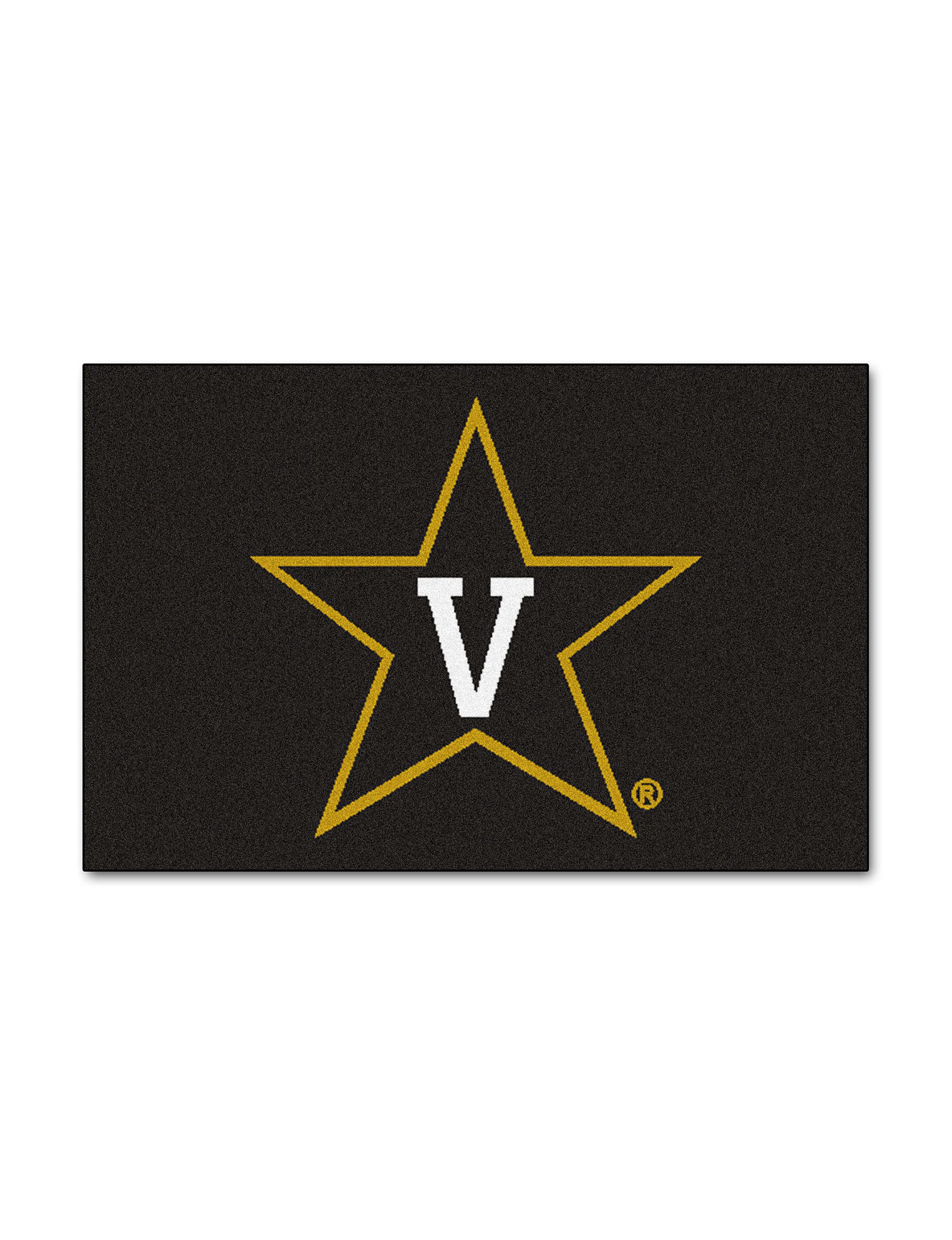 Fanmats Gold / Black Accent Rugs Rugs