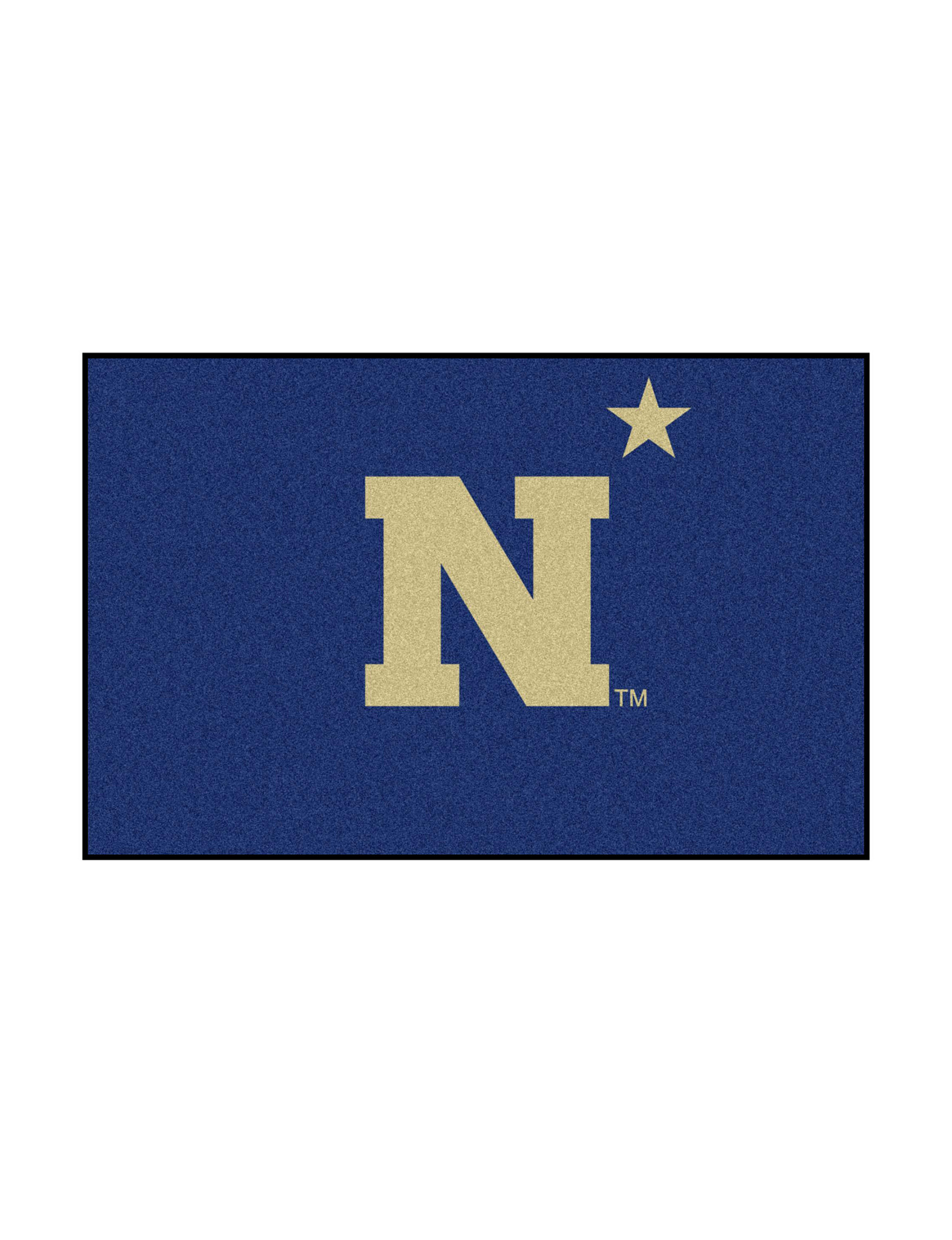 Fanmats Navy / Gold Accent Rugs Outdoor Rugs & Doormats Rugs