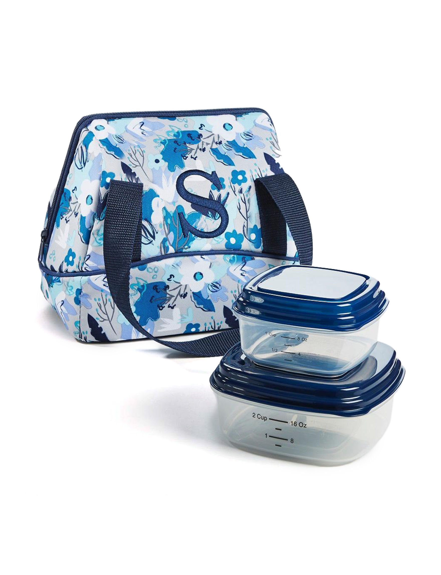Fit & Fresh Blue Lunch Boxes & Bags Kitchen Storage & Organization
