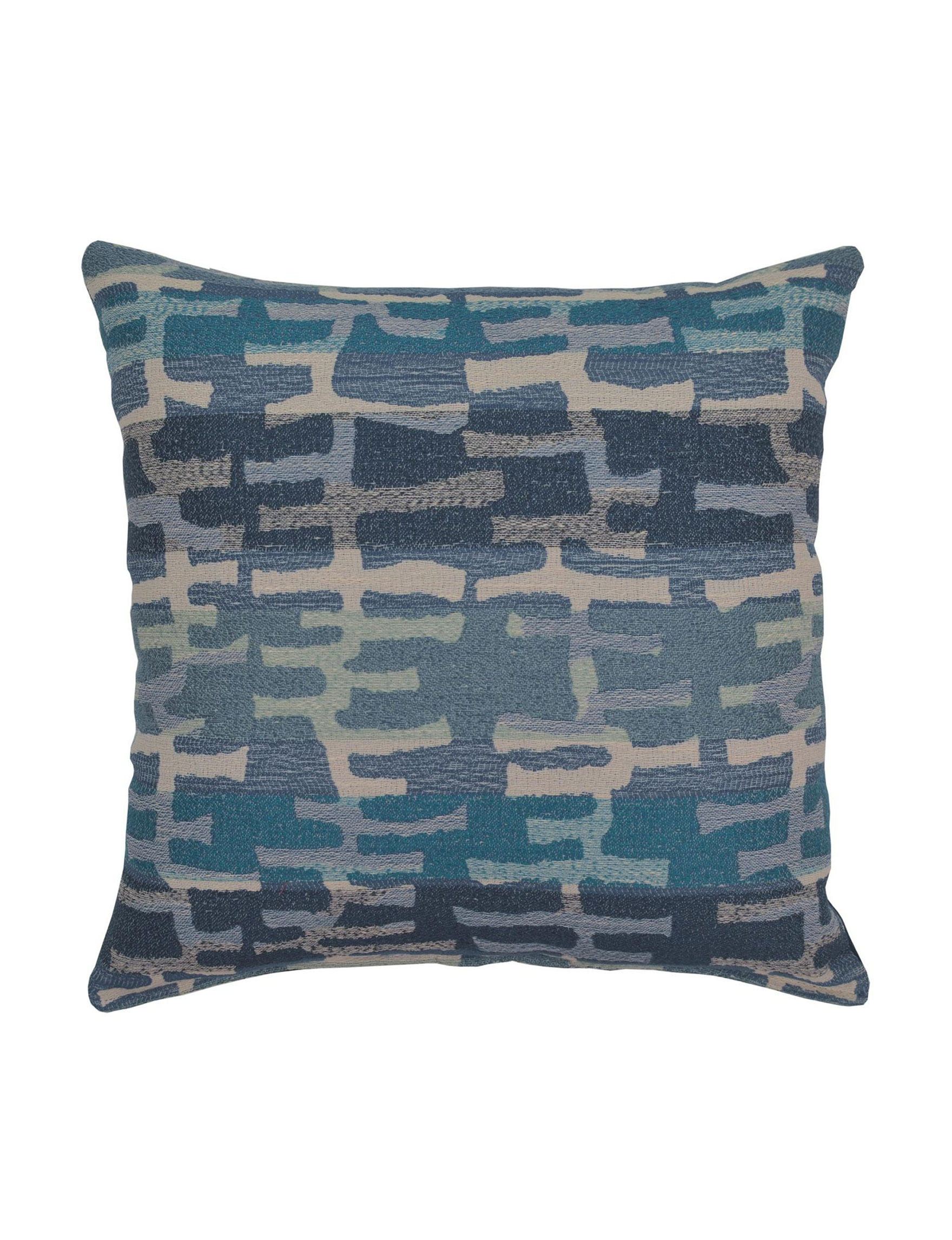 Creative Home Furnishings Blue Multi Bed Pillows Decorative Pillows