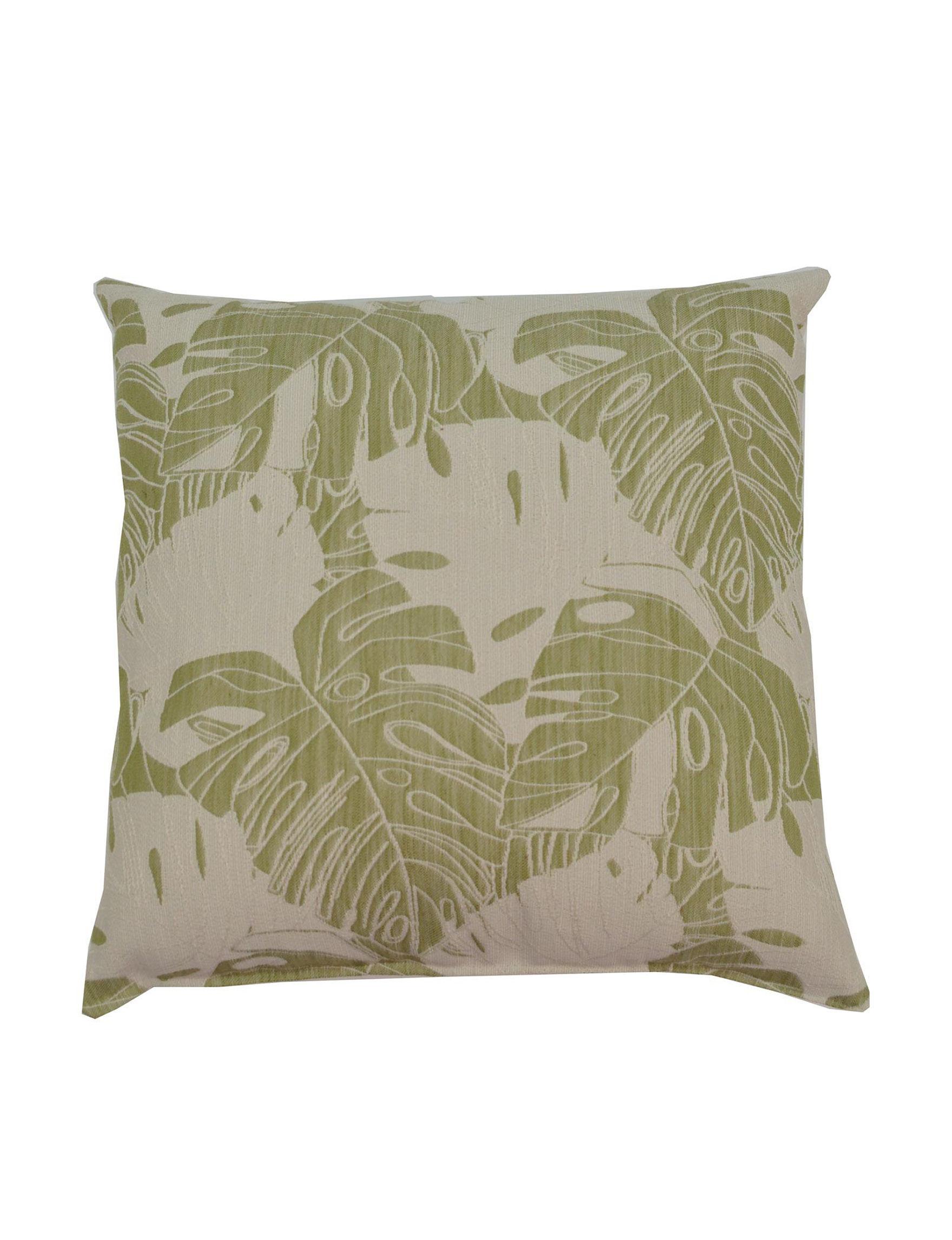Creative Home Furnishings Green / Beige Decorative Pillows