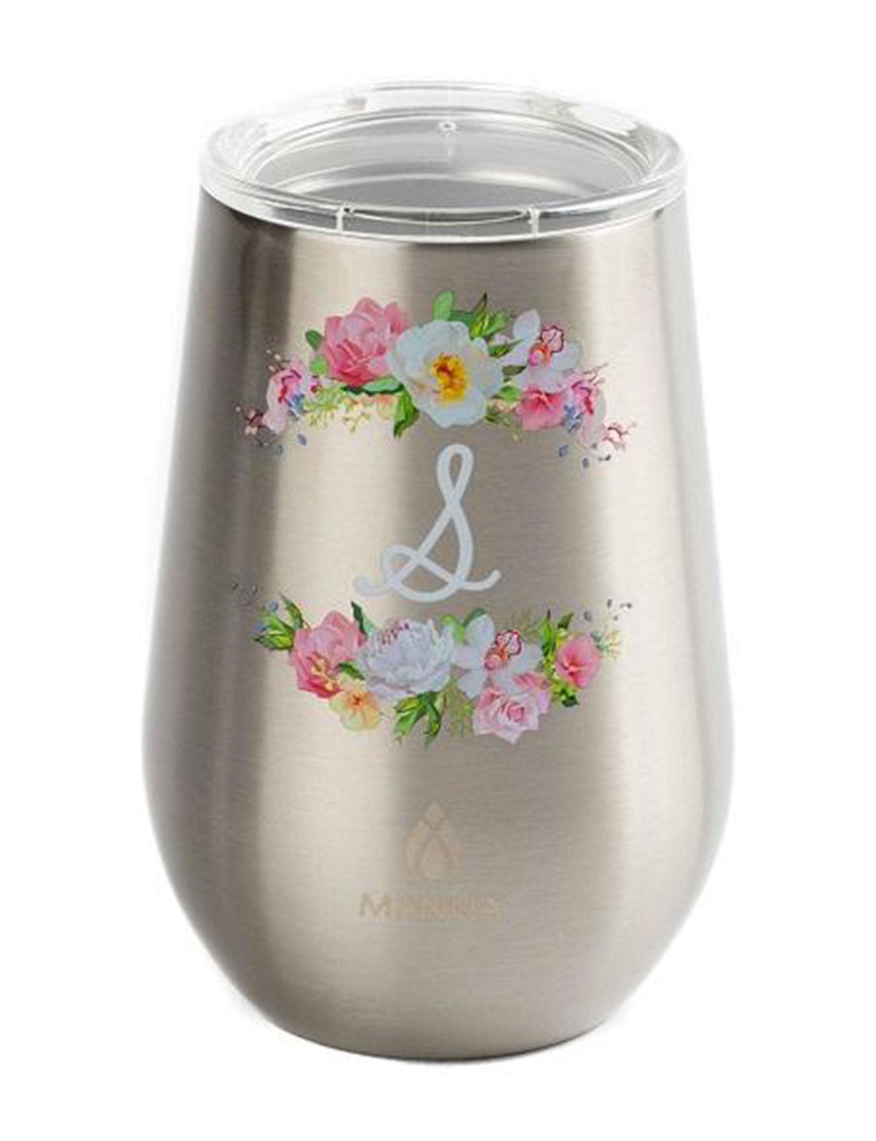 Core Home Silver Wine Glasses Drinkware
