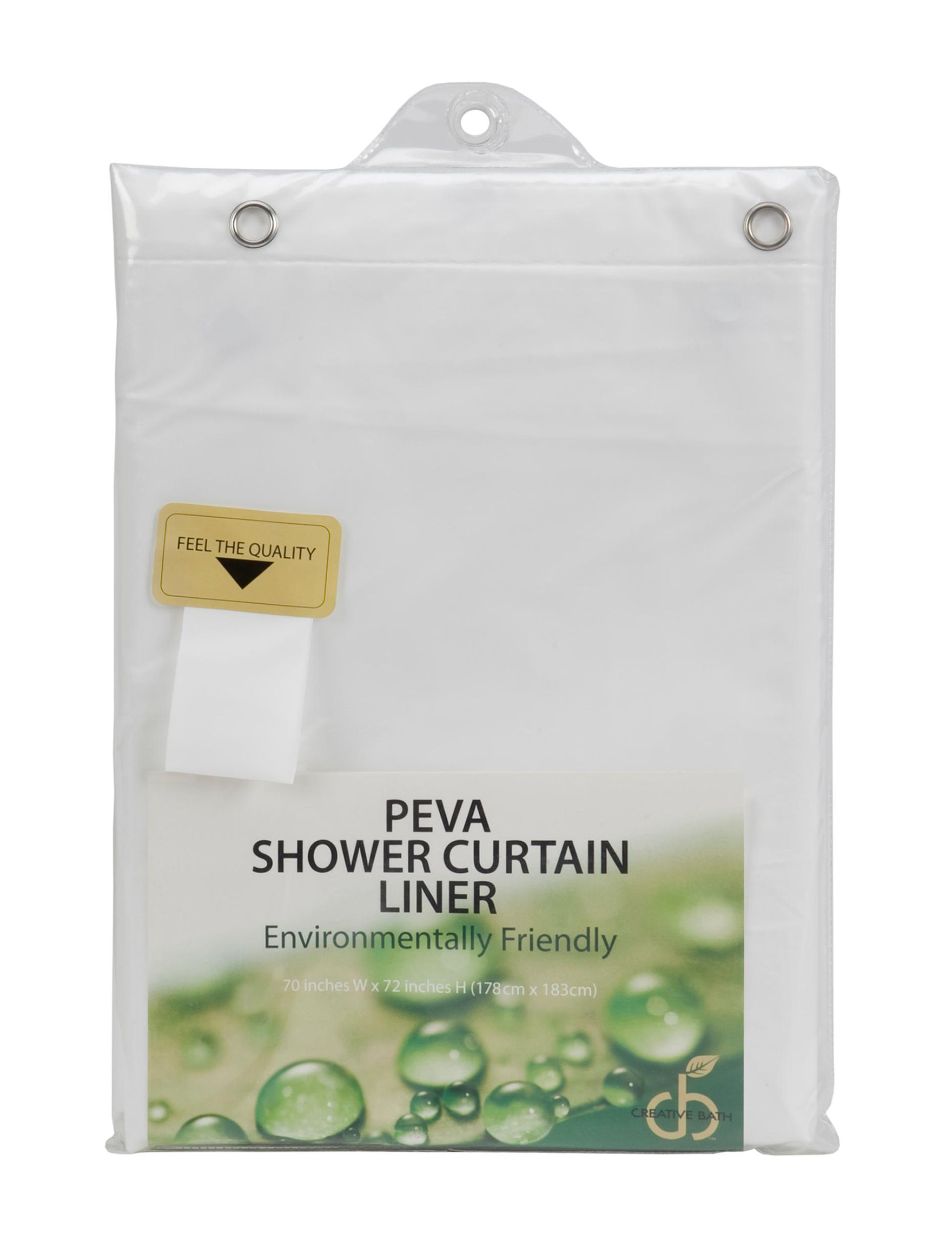 Creativeware Environmentally Friendly Shower Curtain Liner Stage