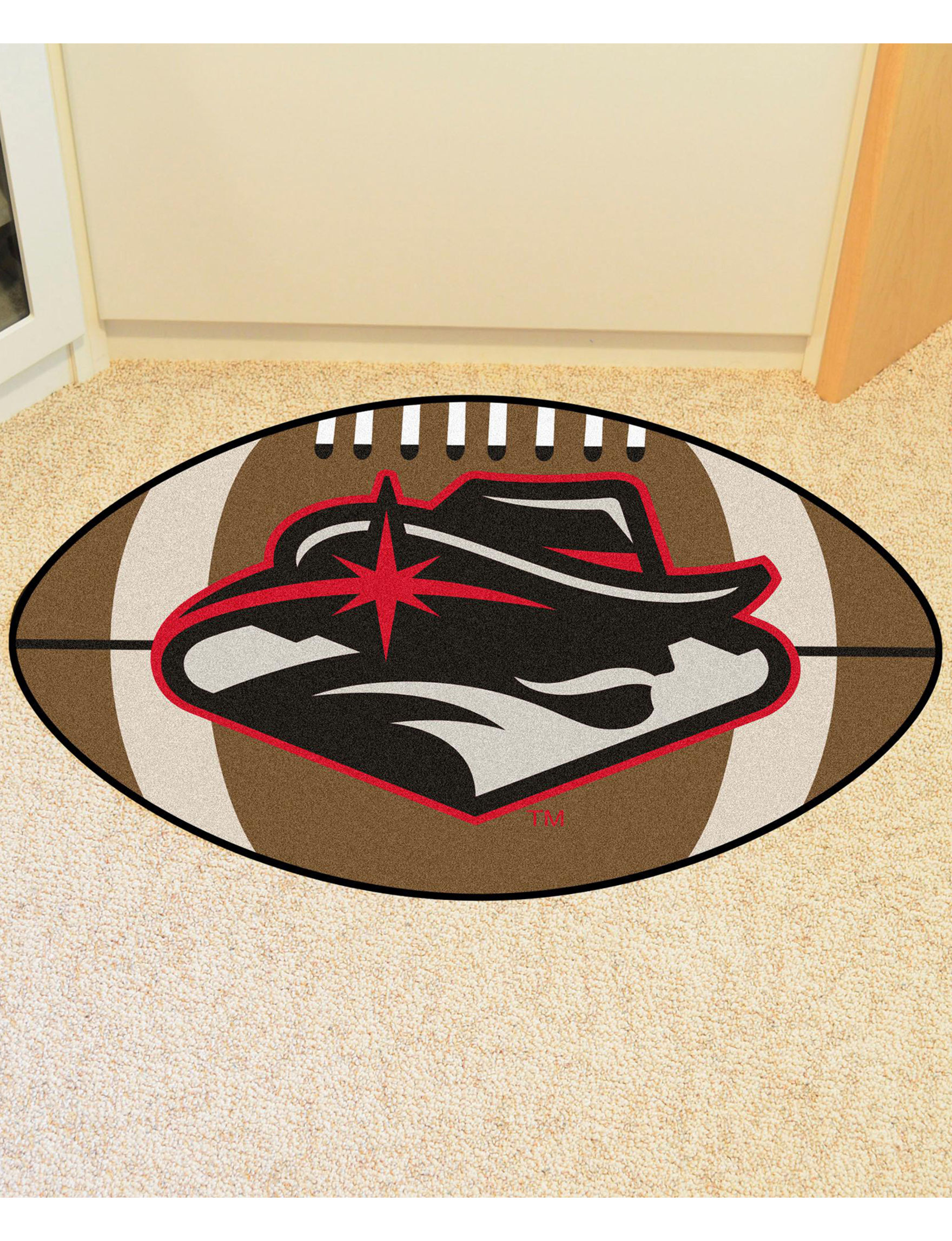 Fanmats Red / Black / White Accent Rugs Rugs
