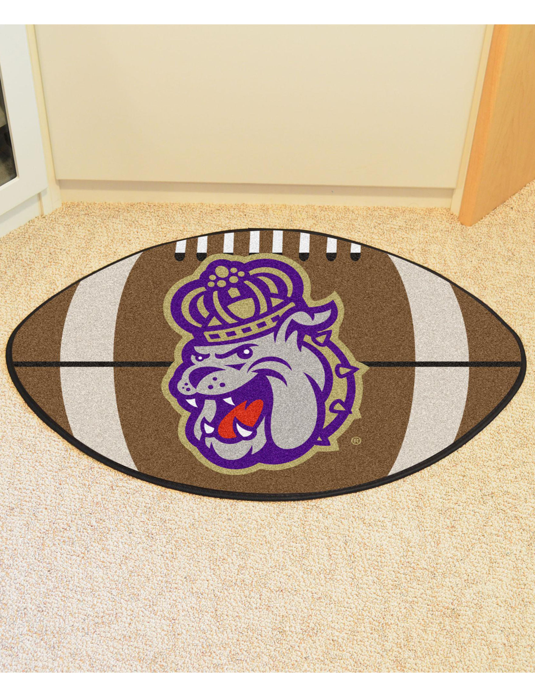 Fanmats Brown / Purple Accent Rugs Rugs