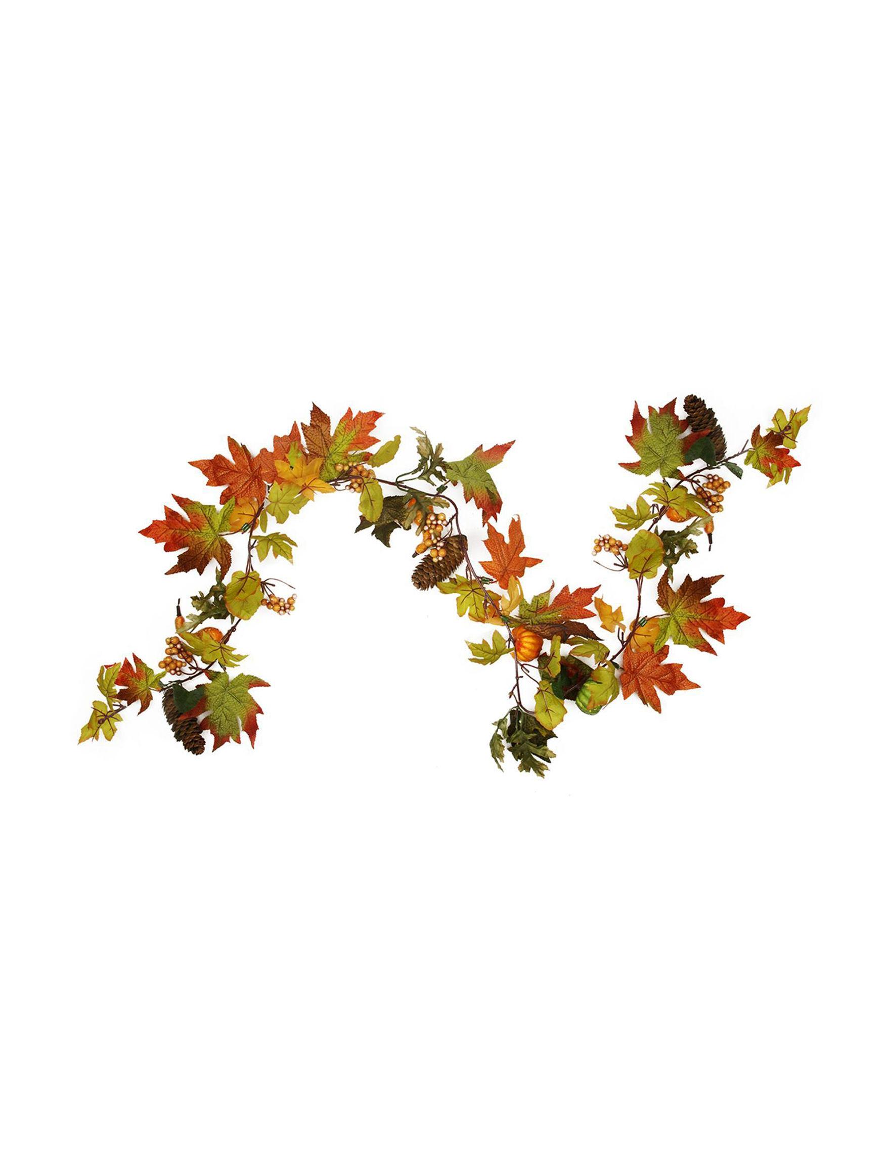 Northlight Orange Wreaths & Garland Home Accents Outdoor Decor