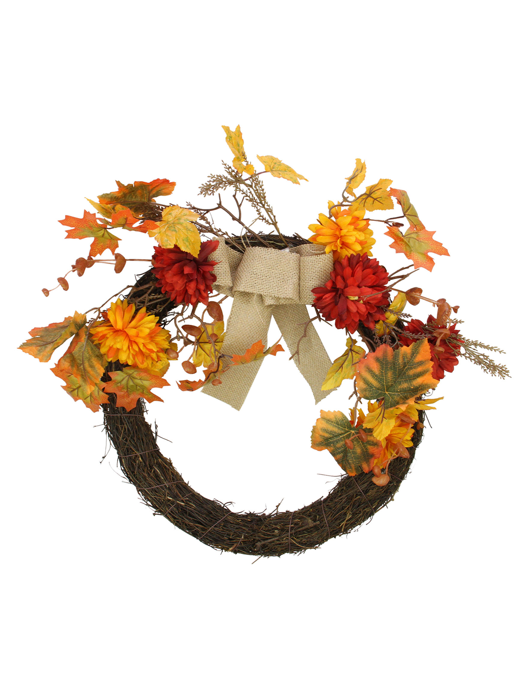 Northlight Yellow Wreaths & Garland Home Accents Outdoor Decor