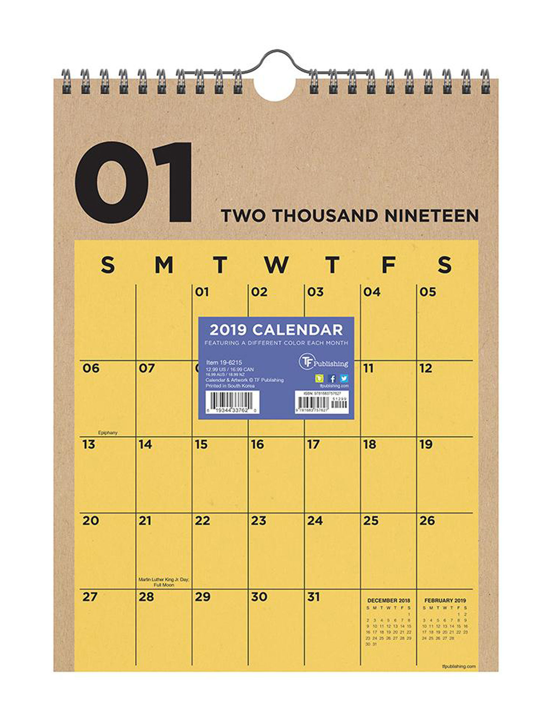 TF Publishing Yellow Calendars & Planners School & Office Supplies