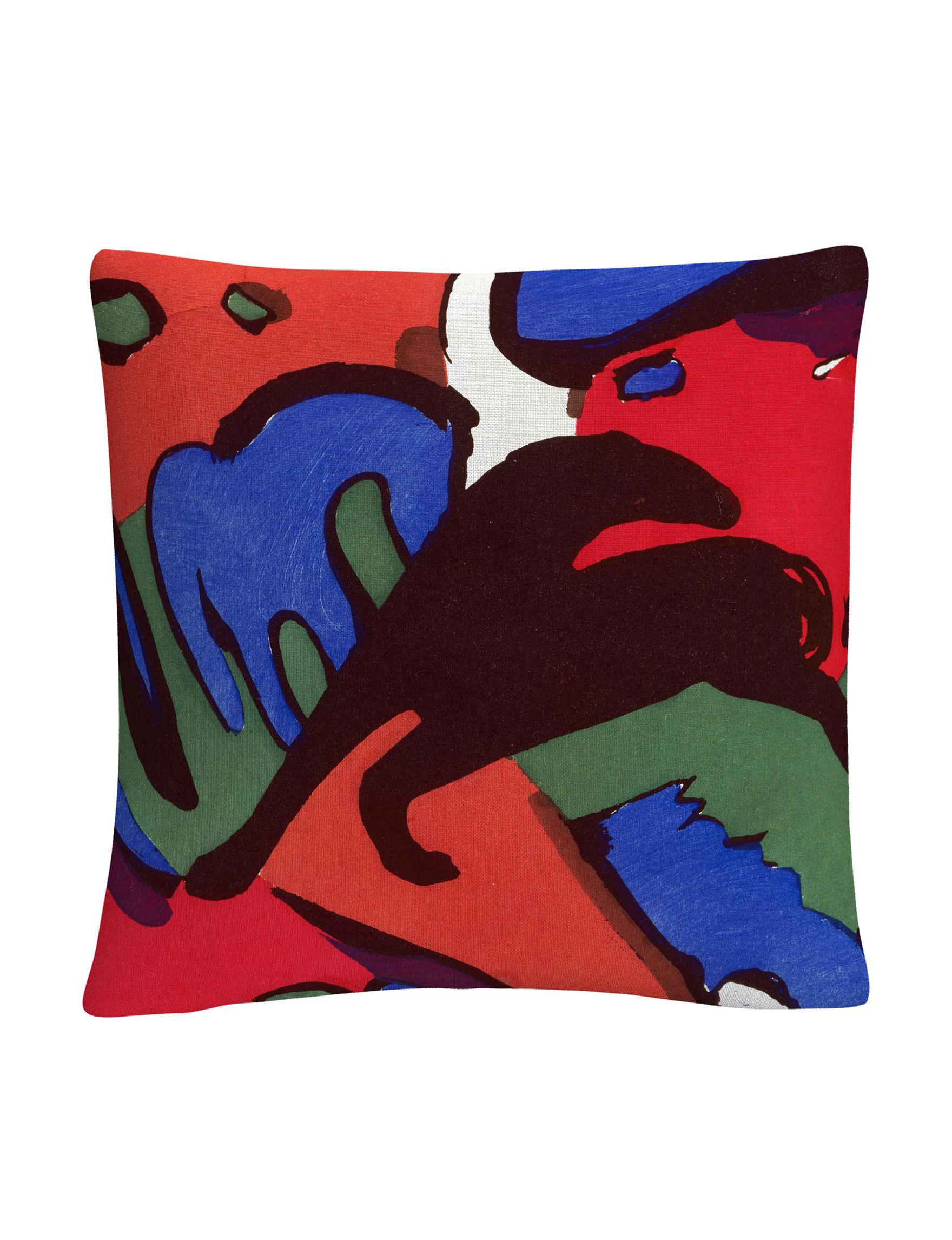 Trademark Fine Art Red Decorative Pillows