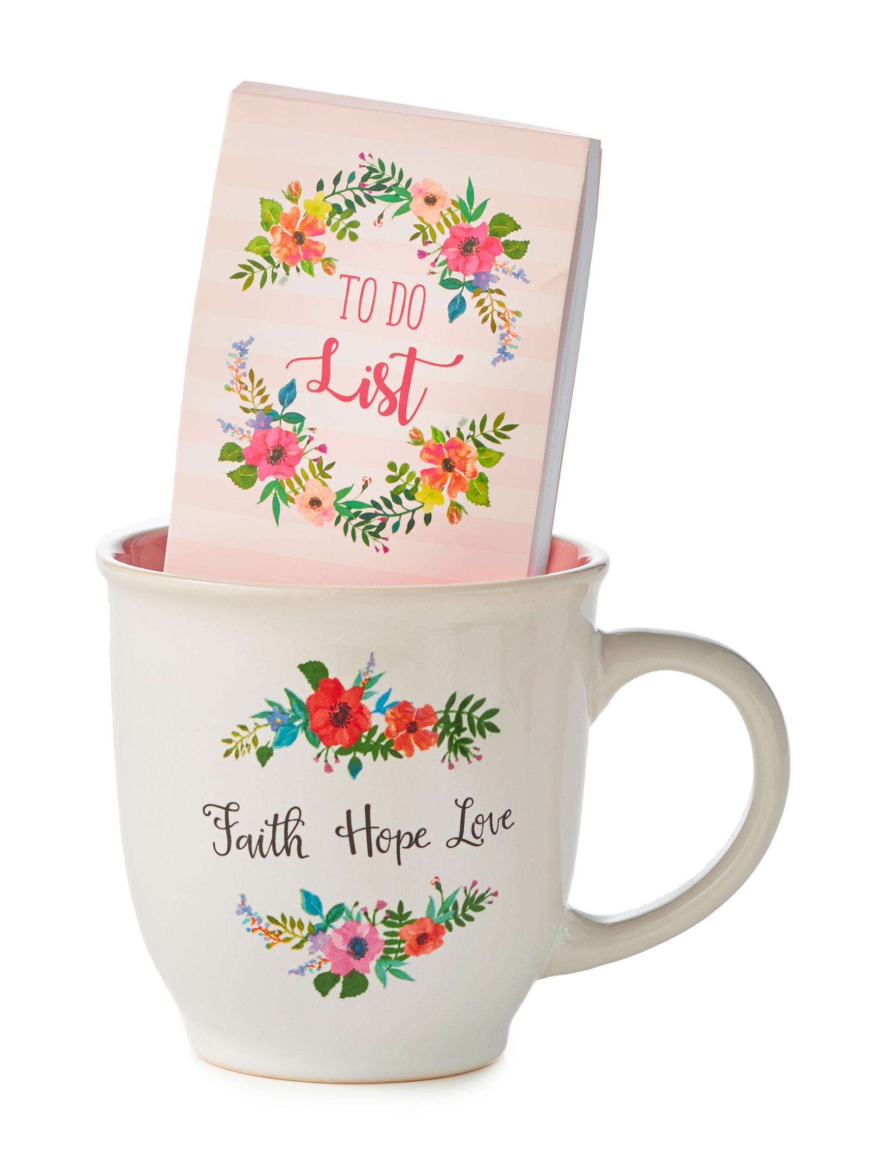 Sheffield Home White / Pink Mugs Drinkware