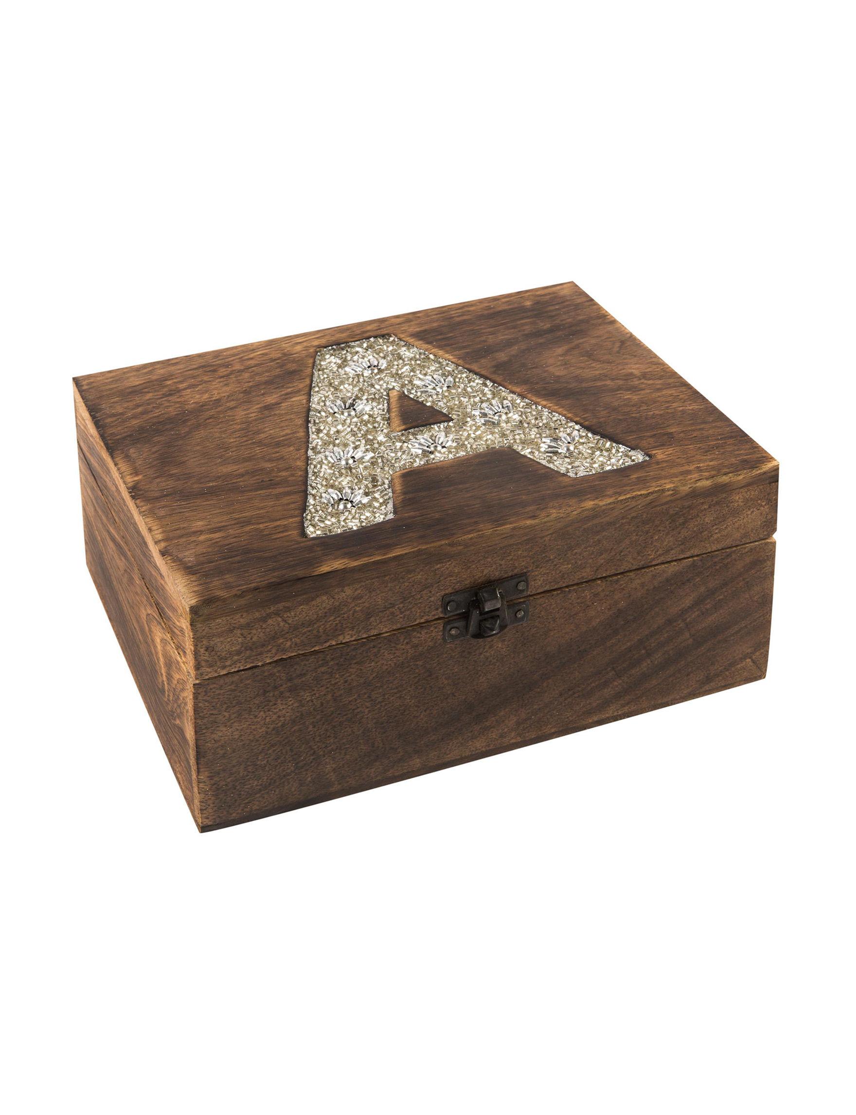 Home Essentials Brown Monogram Jewelry Storage & Organization
