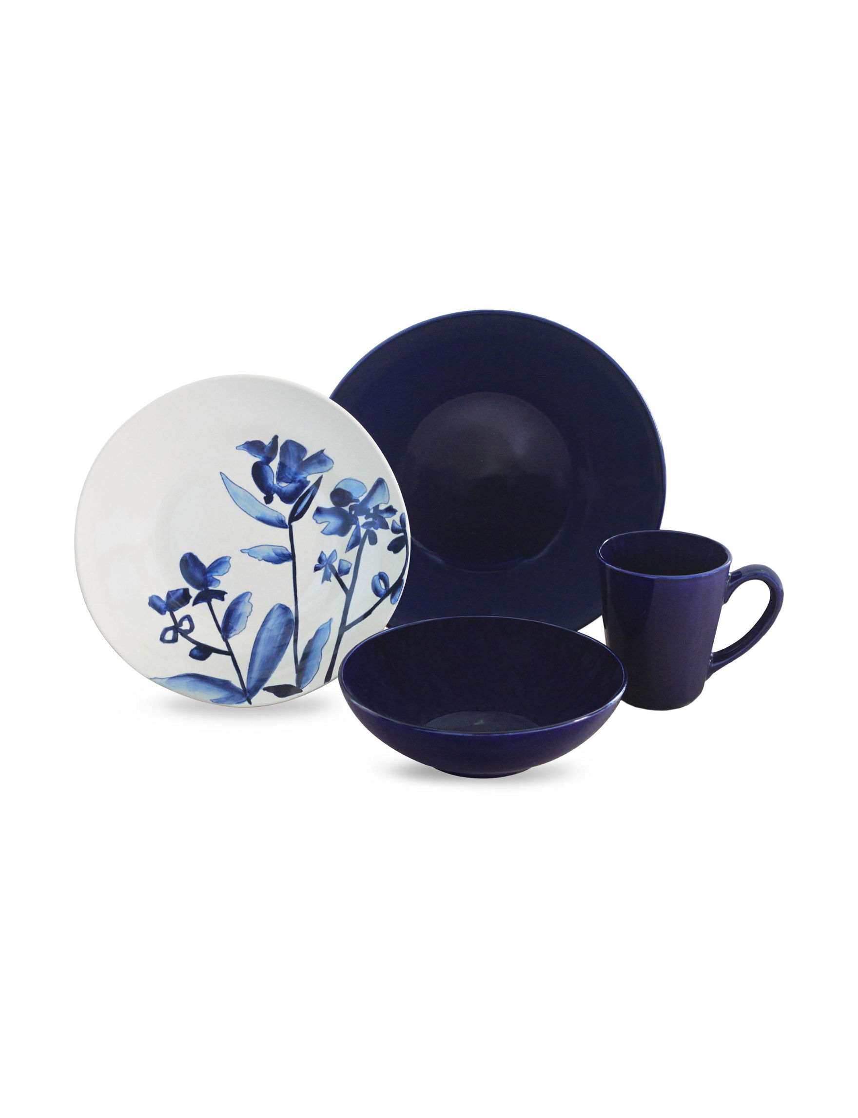 Baum Bros Imports 16-pc. Lapis Fields Dinnerware Set | Stage Stores