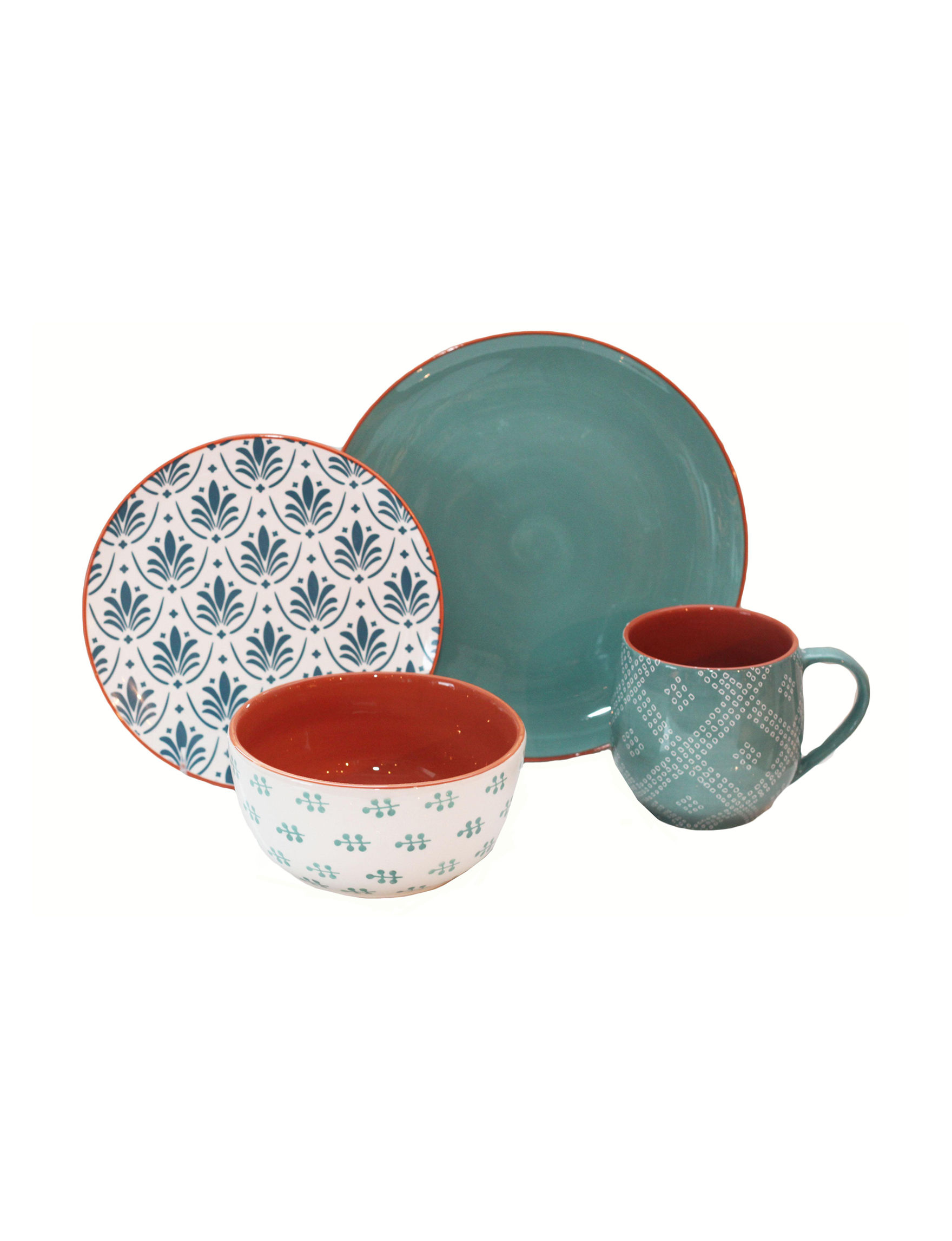 Baum Bros Imports 16-pc. Oasis Dinnerware Set | Stage Stores