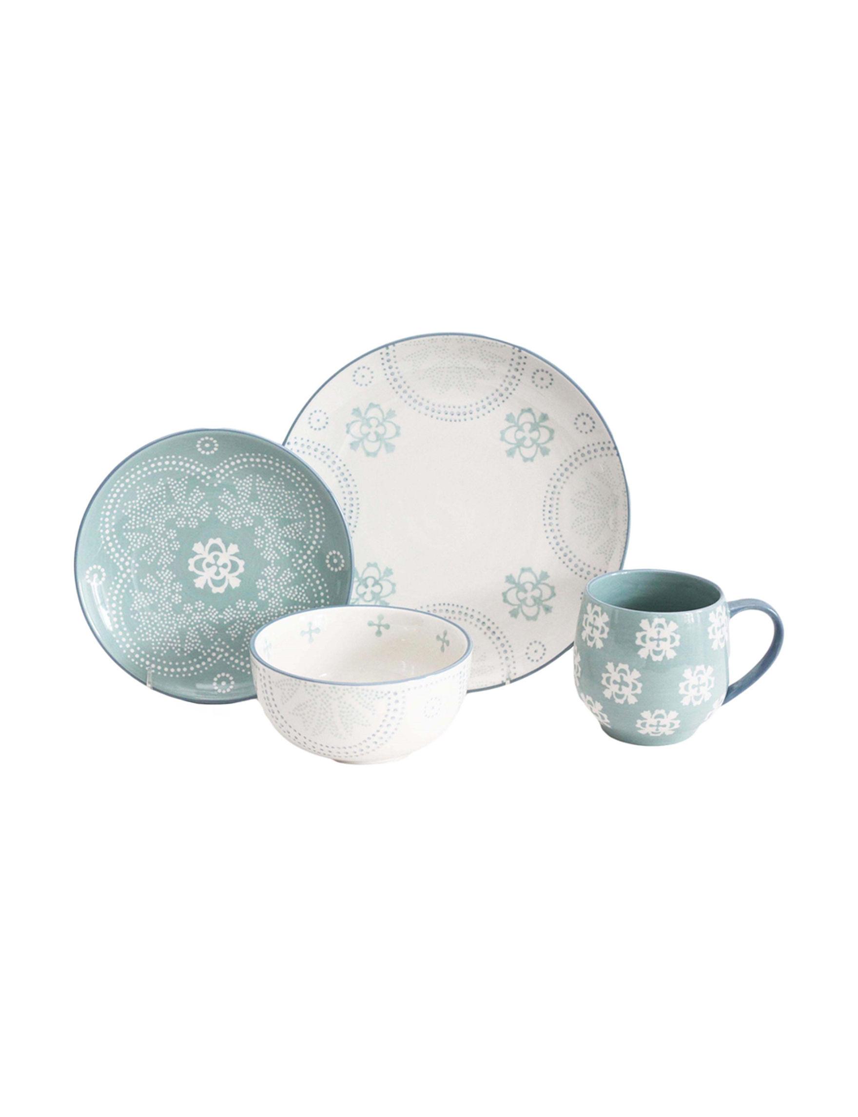 Baum Bros Imports Blue / White Dinnerware Sets Dinnerware