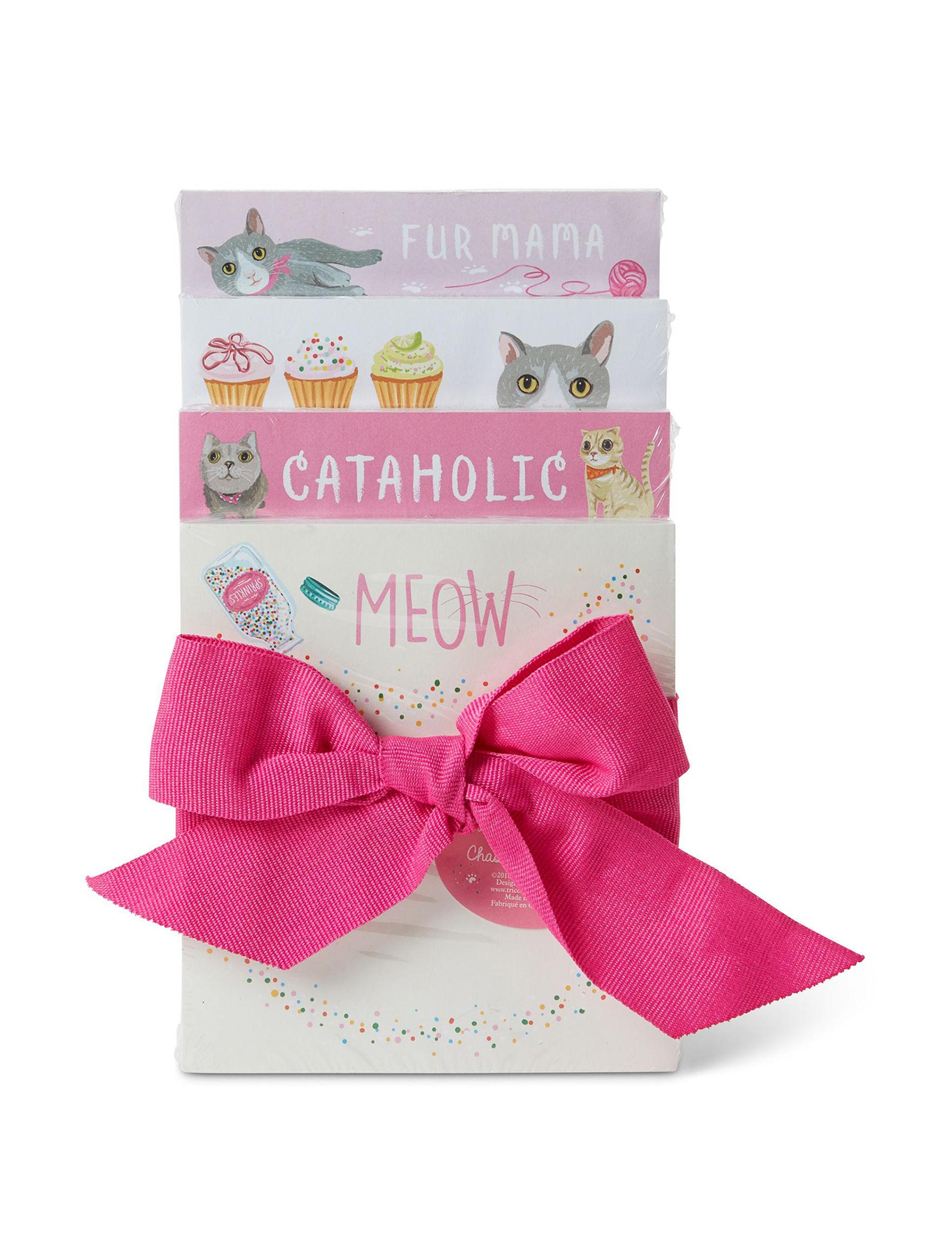 Tri Coastal White / Pink Journals & Notepads School & Office Supplies