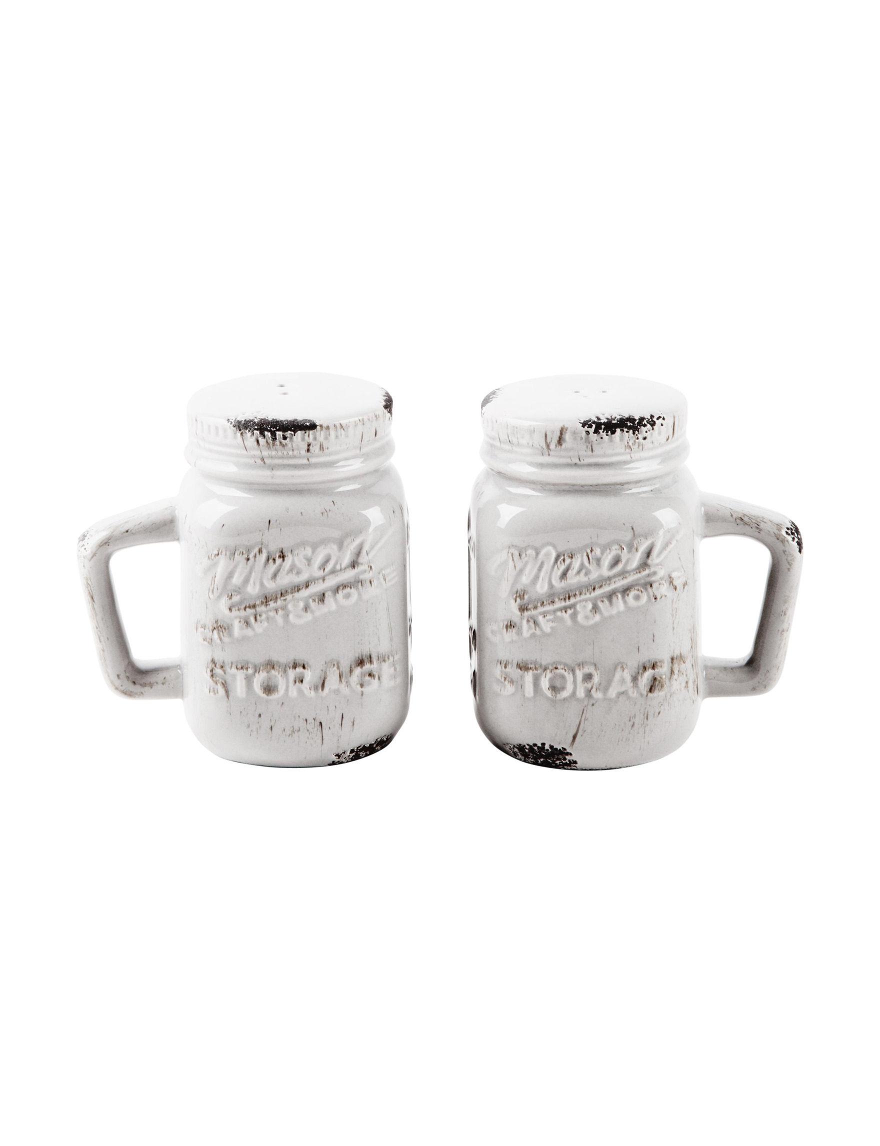 Home Essentials White Salt & Pepper Shakers Serveware