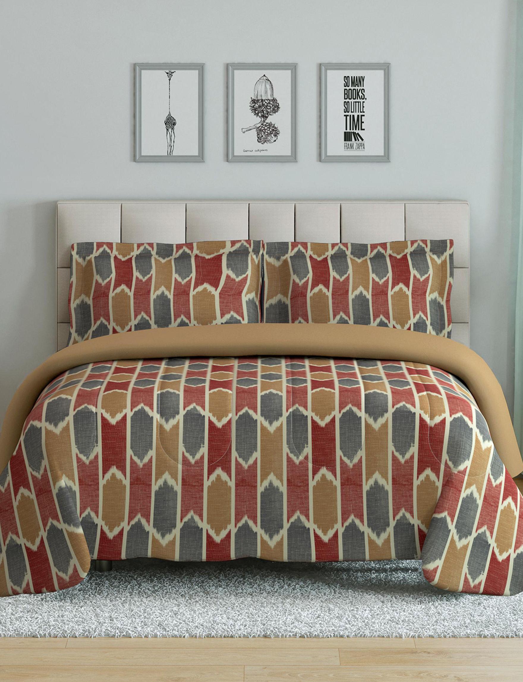 Peach and Oak Brown Multi Comforters & Comforter Sets