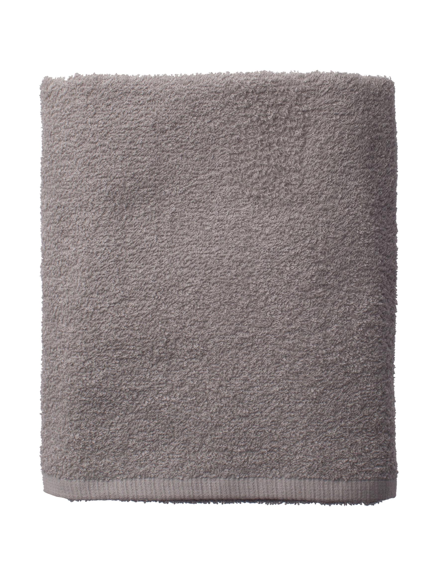 Fig & Ivy Grey Bath Towels Towels