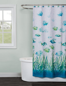 Saturday Knight Ocean Curtains & Drapes Shower Curtains & Hooks