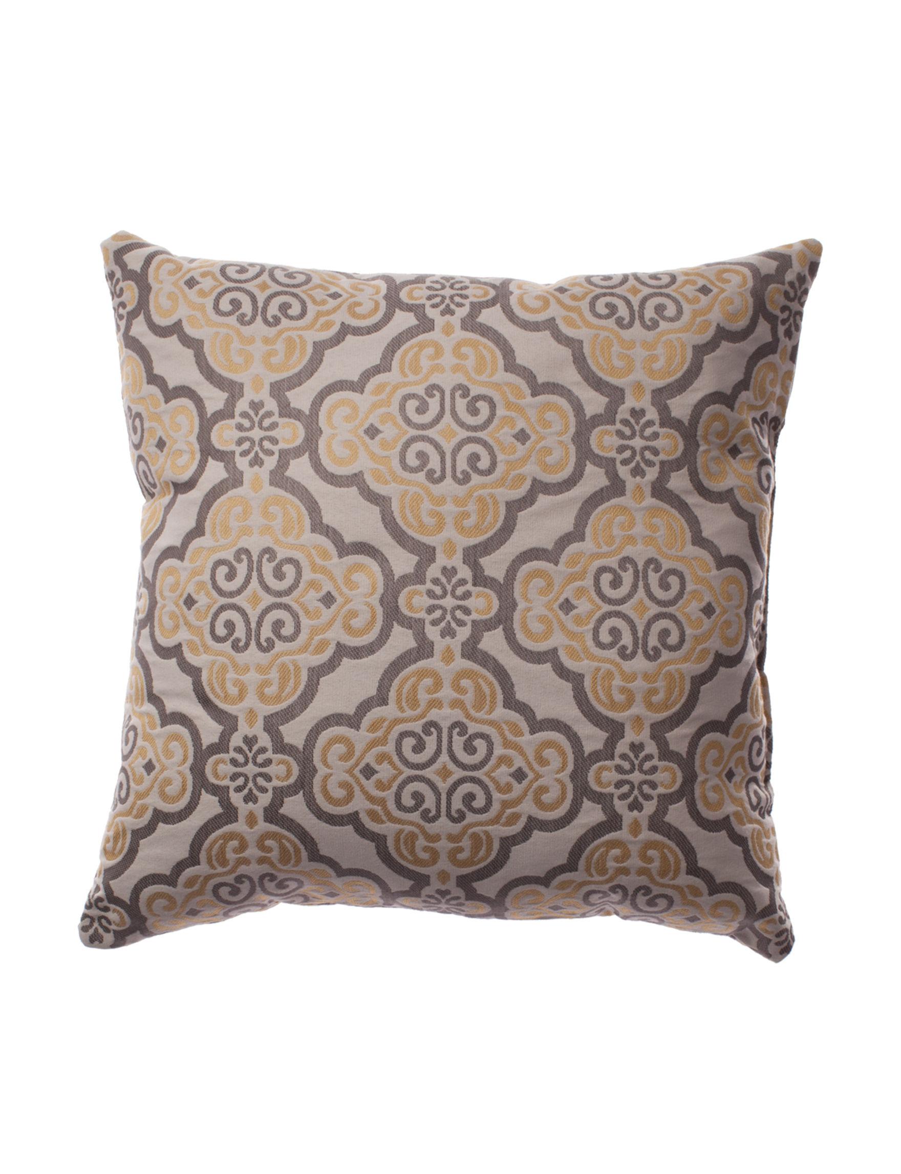 Home Fashions International Yellow / Multi Decorative Pillows