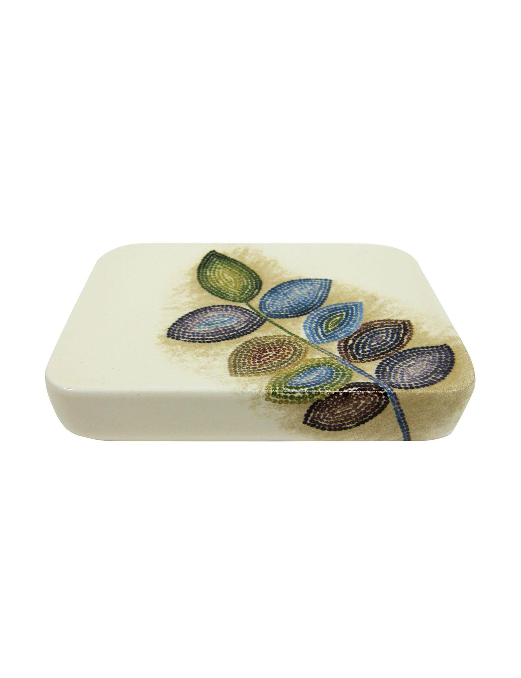 Croscill Beige / Multi Soap Dishes Bath Accessories