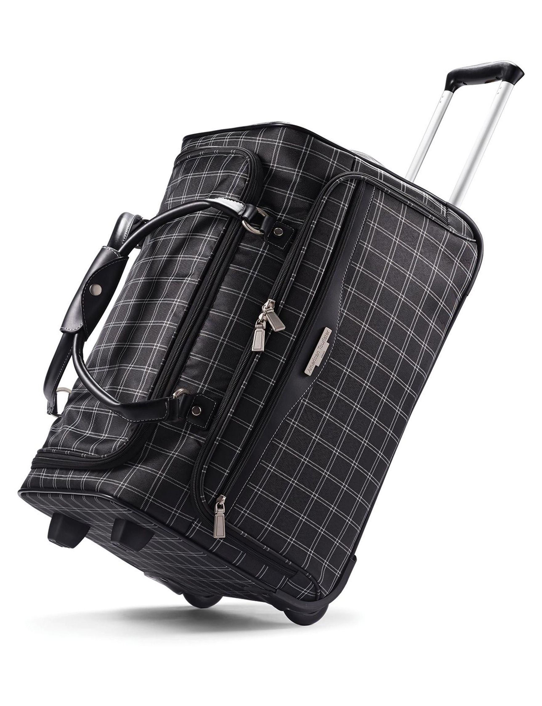 American Tourister Black Softside Duffle Bags Upright Spinners
