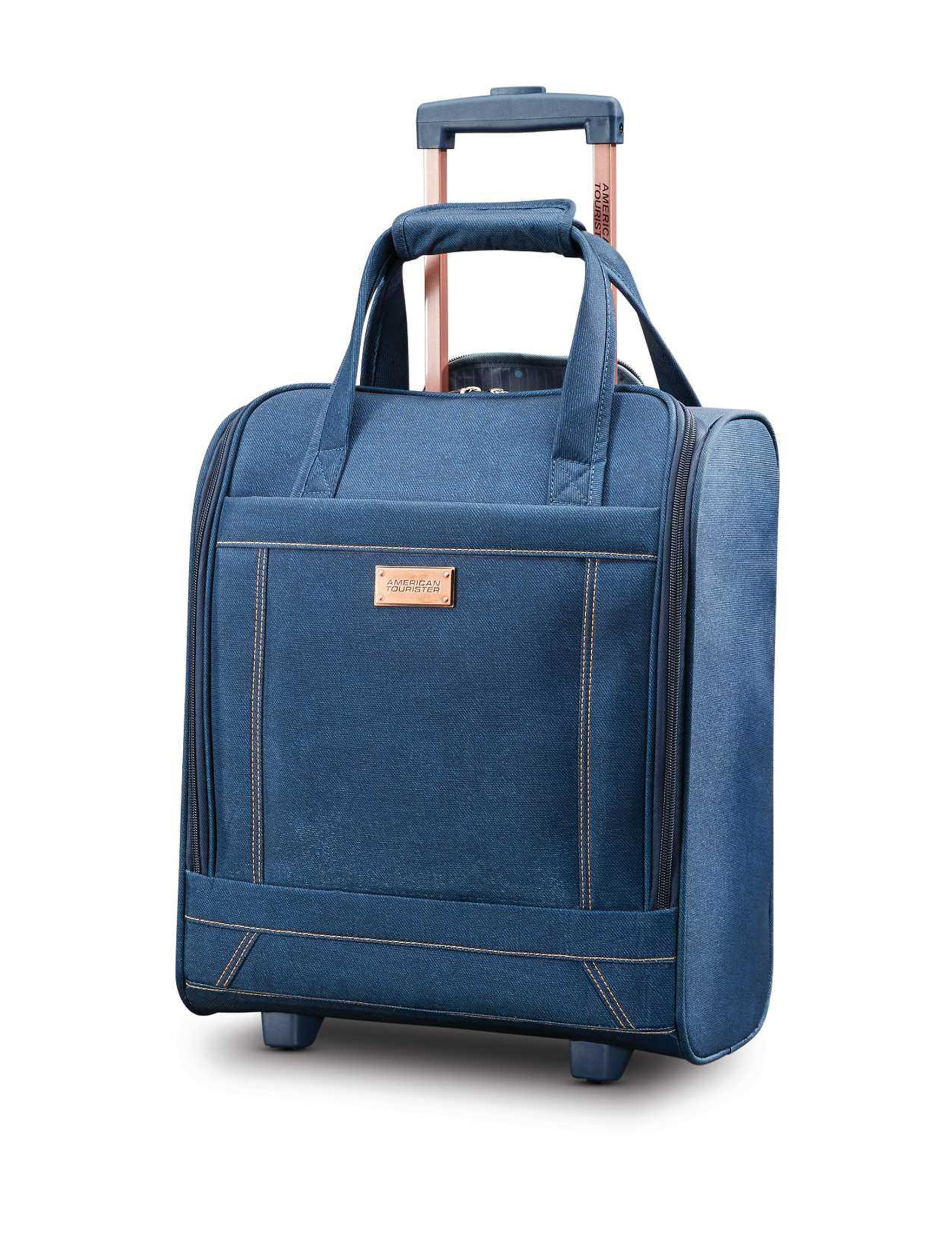 American Tourister Blue Softside Upright Spinners