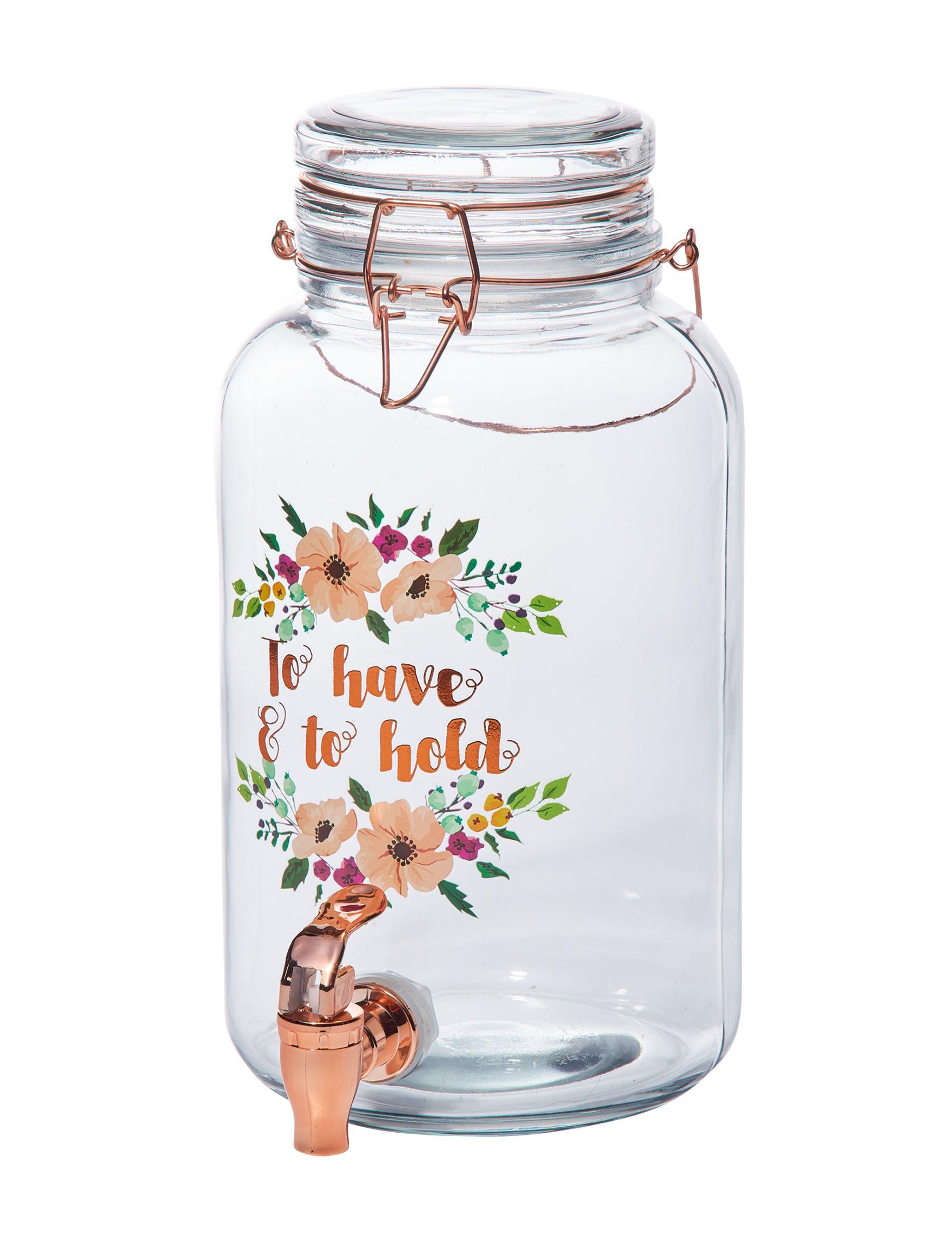Home Essentials White / Silver Beverage Dispensers & Tubs Serveware