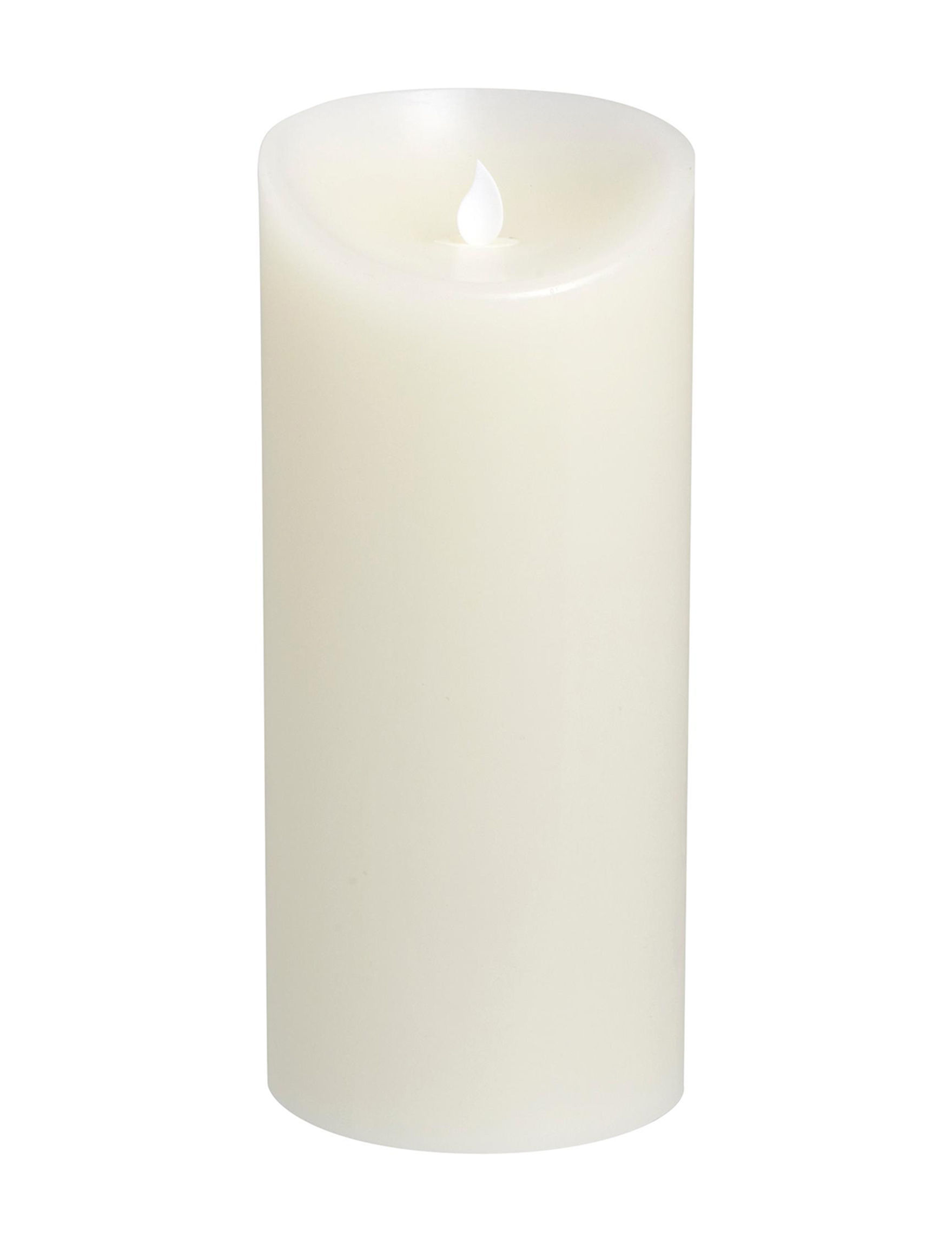 Apothecary White Flameless Candles & Diffusers
