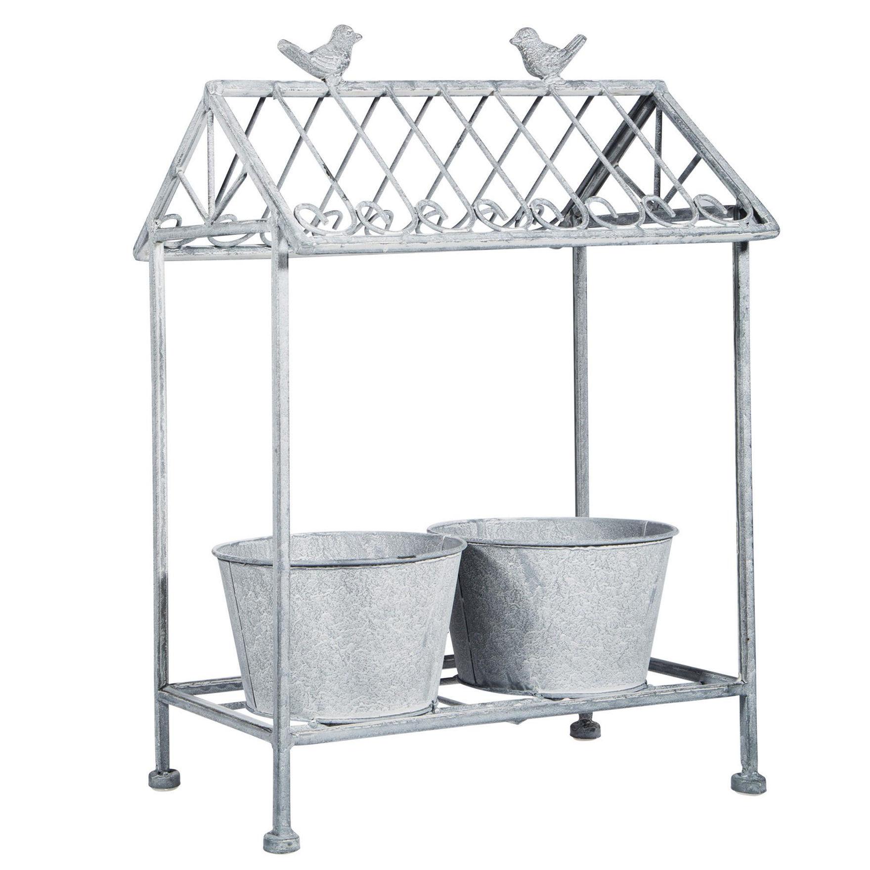 Home Essentials Silver Garden Decor & Planters Outdoor Decor