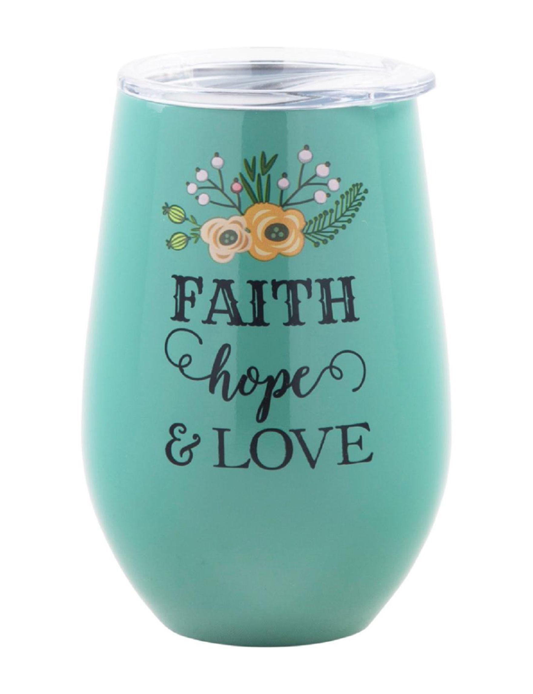 Home Essentials Blue Wine Glasses Drinkware
