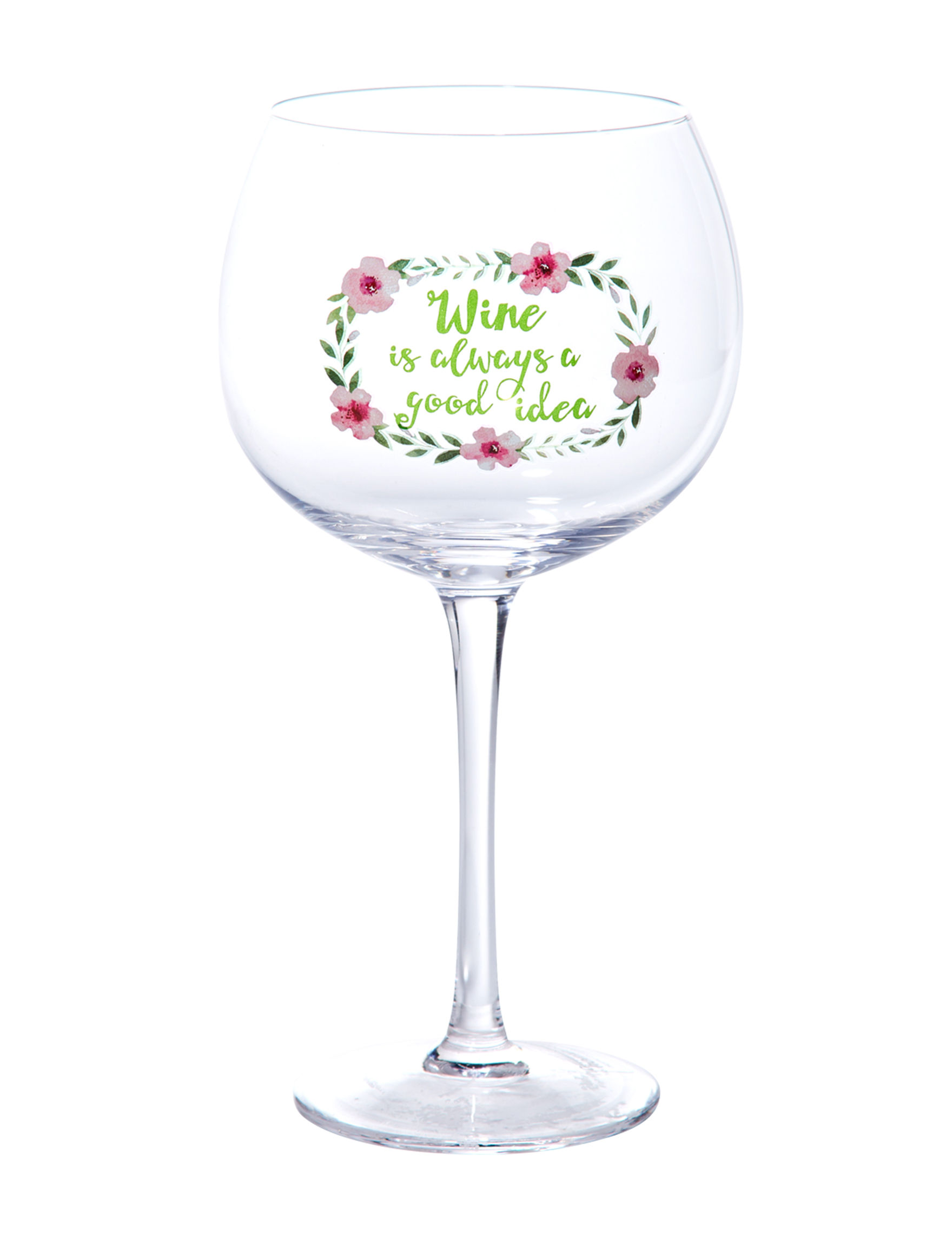 Home Essentials Pink Multi Wine Glasses Drinkware