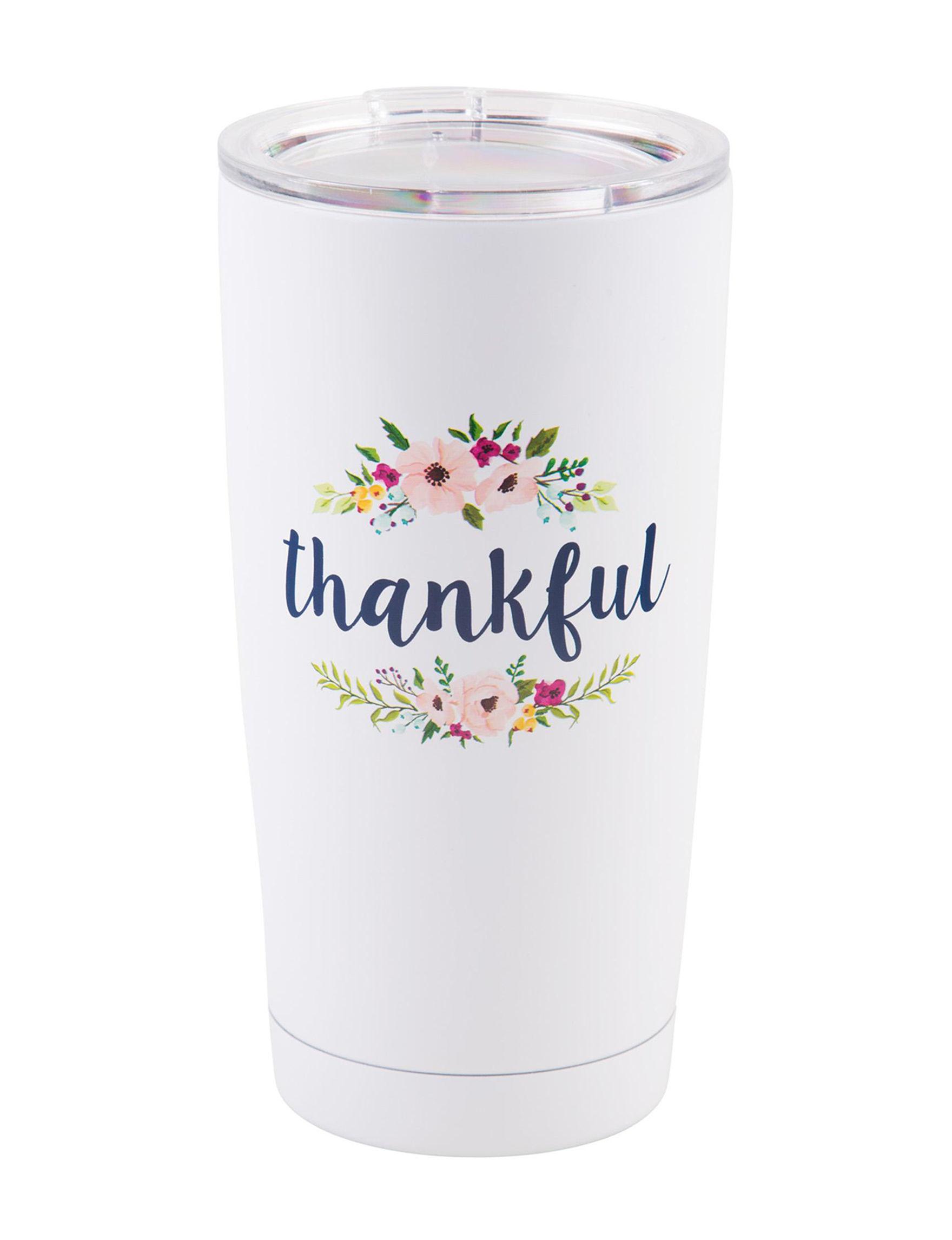 Home Essentials White Tumblers Drinkware