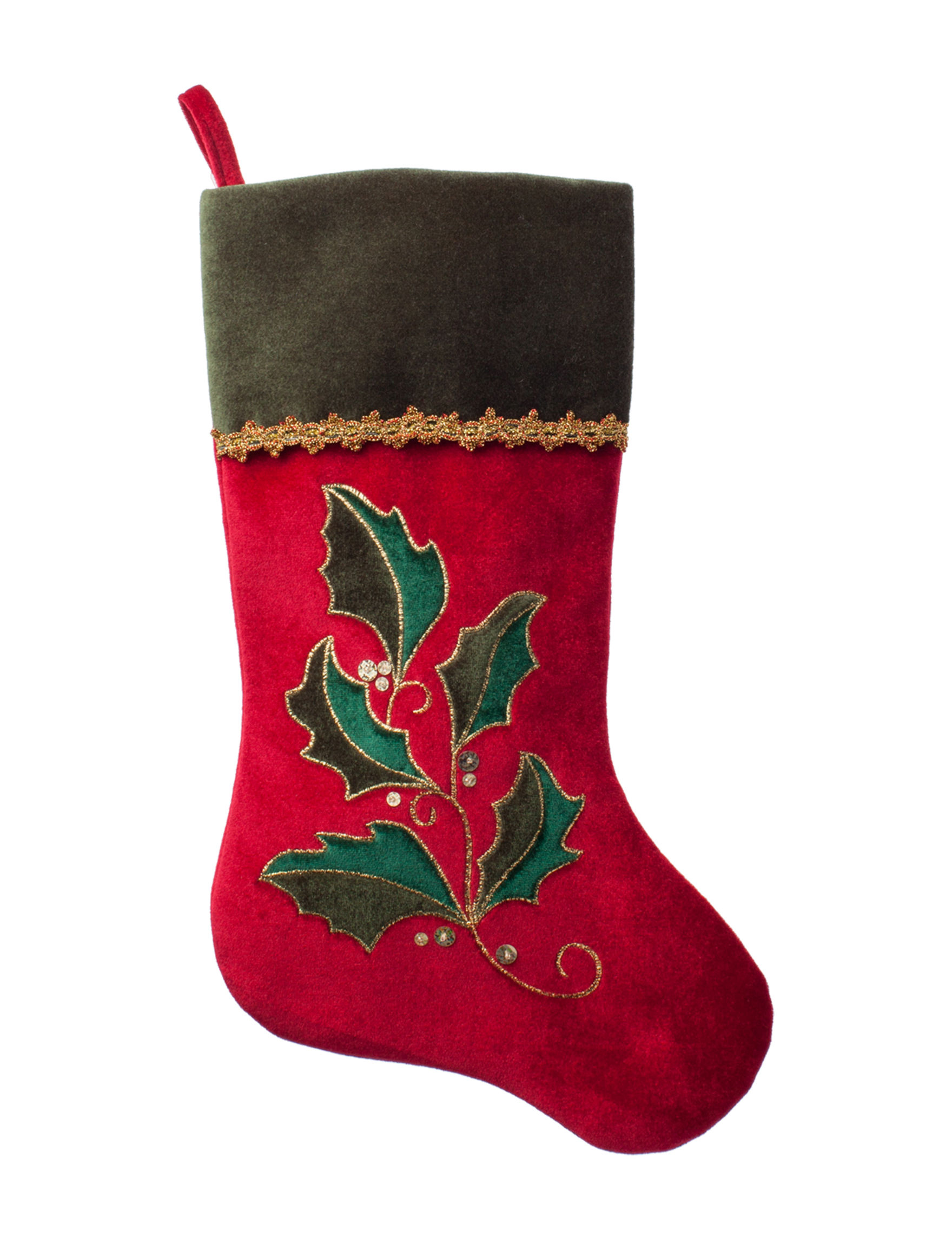 Northlight Red / Green Stockings & Tree Skirts Holiday Decor