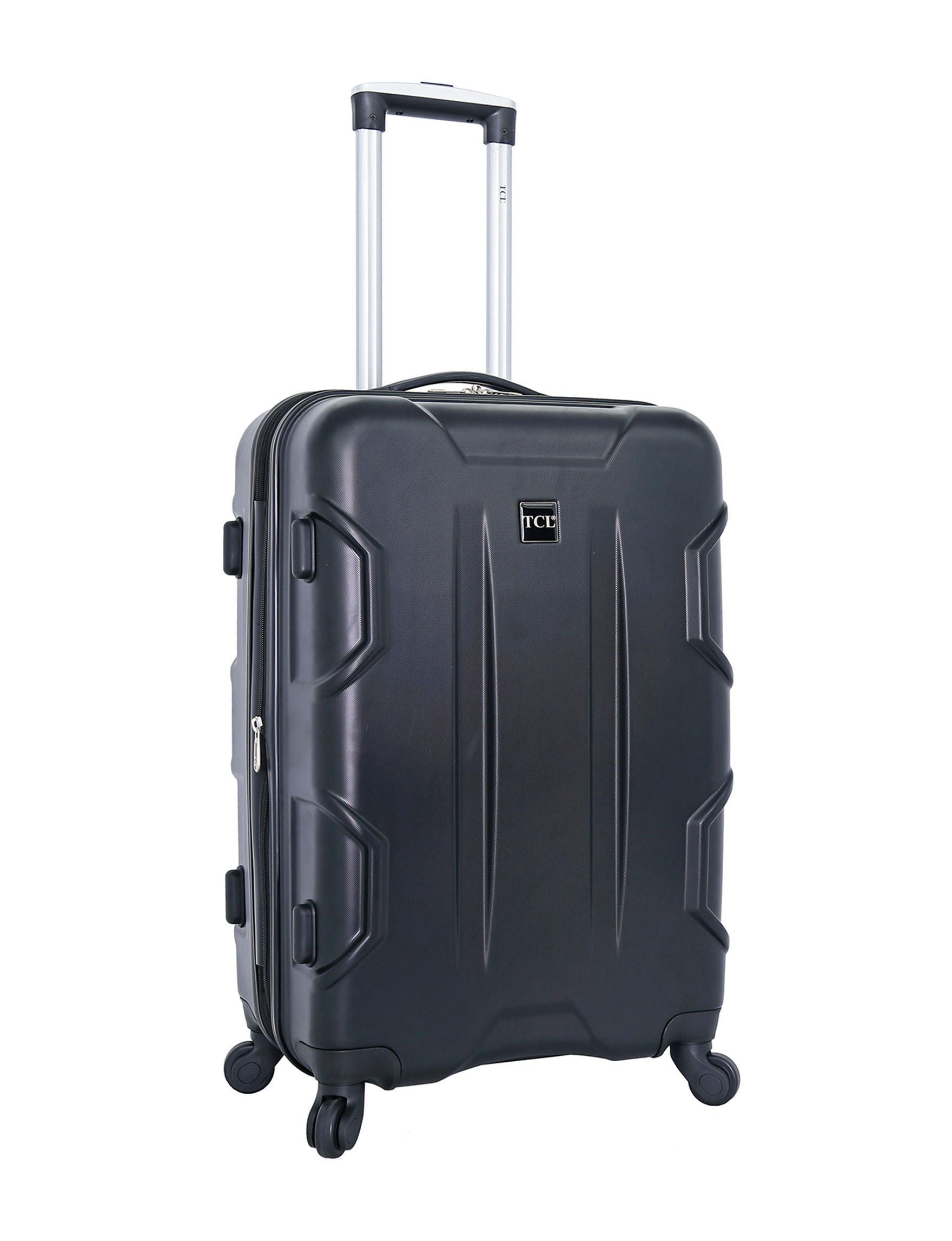 Travelers Club Luggage Expandable Hardside Spinner Luggage in Several Sizes (Black)