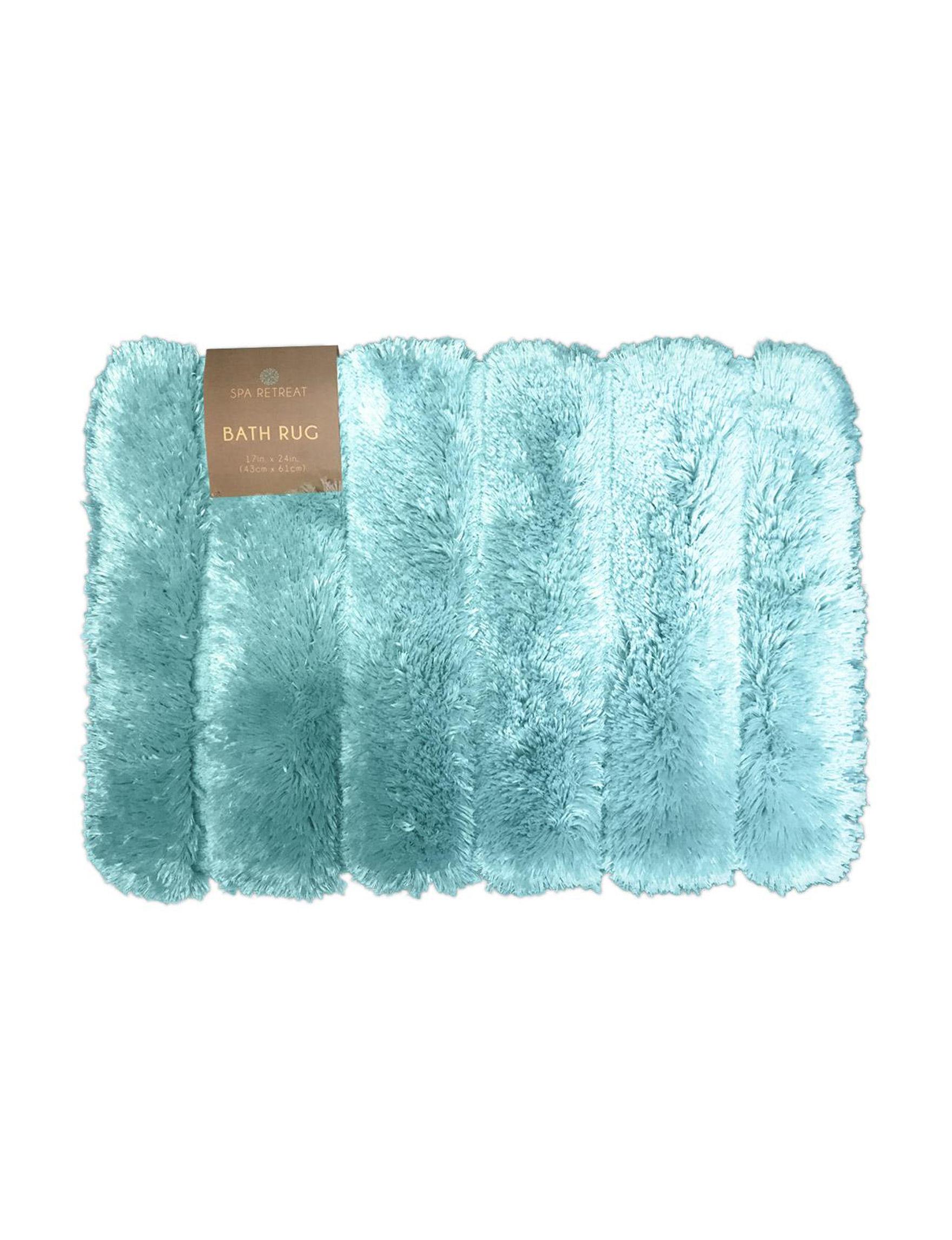 Spa Retreat Turquoise Bath Rugs & Mats