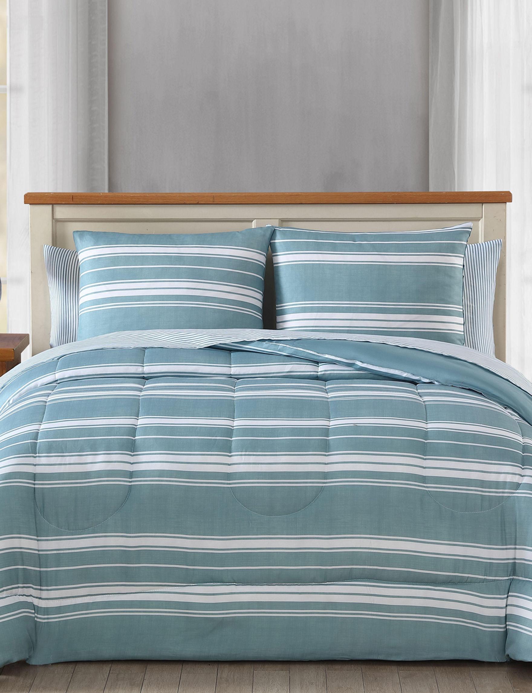 Harper Home Blue Comforters & Comforter Sets